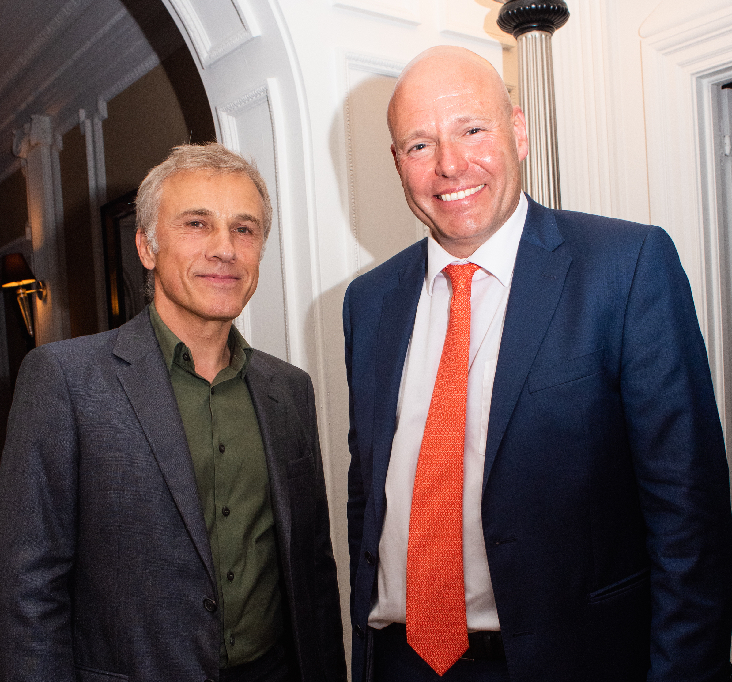 Two-time Academy Award-winning actor Christoph Waltz with Consul General Andreas Launer