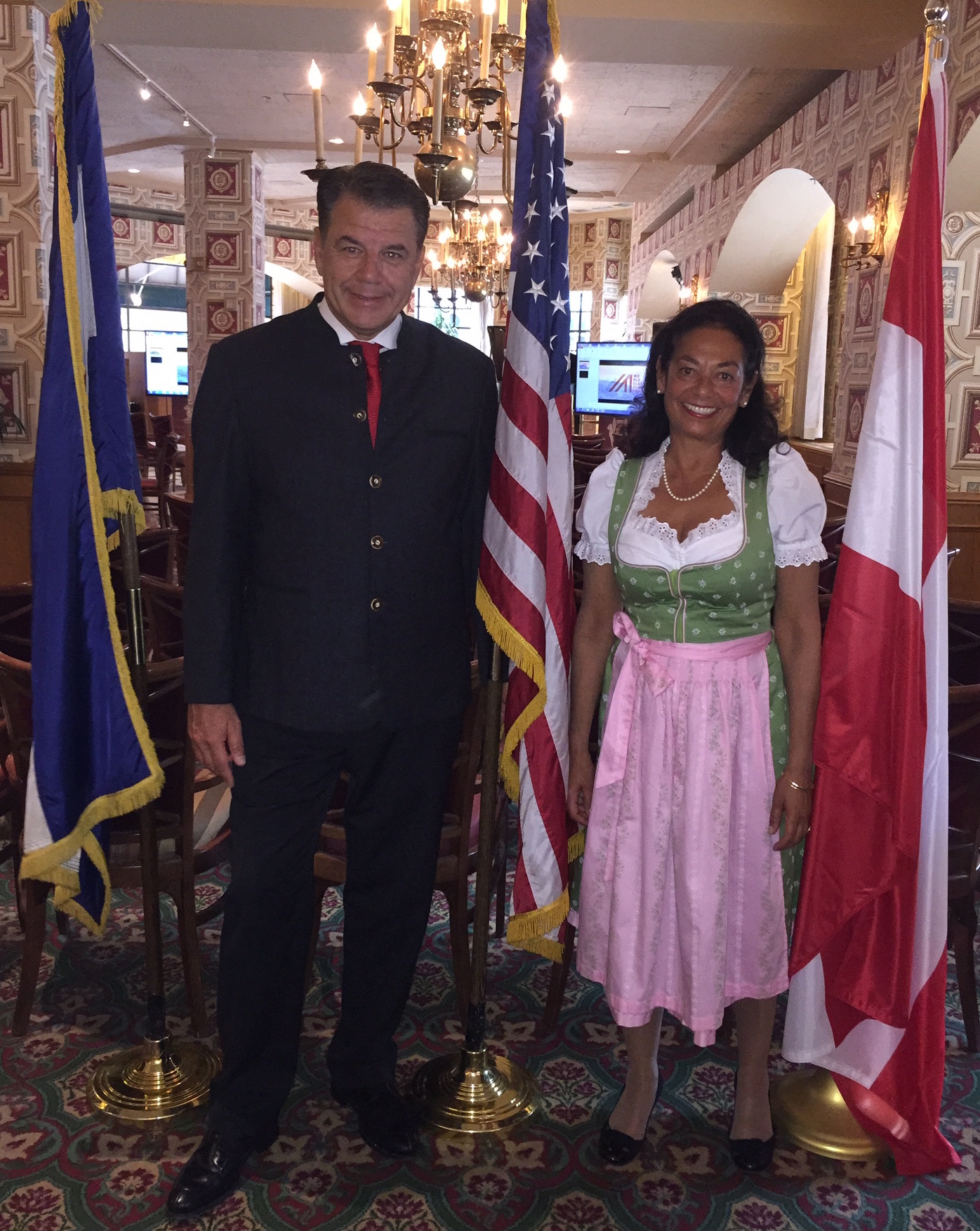 Austrian Honorary Consul  Hikmet Ersek  with his wife, Austrian Honorary Vice Consul  Dr. Nayantara Ghosh-Ersek . Mr. Ersek is President, Chief Executive Officer and Director of The Western Union Company. Ms. Ghosh-Ersek is a management consultant and trainer.
