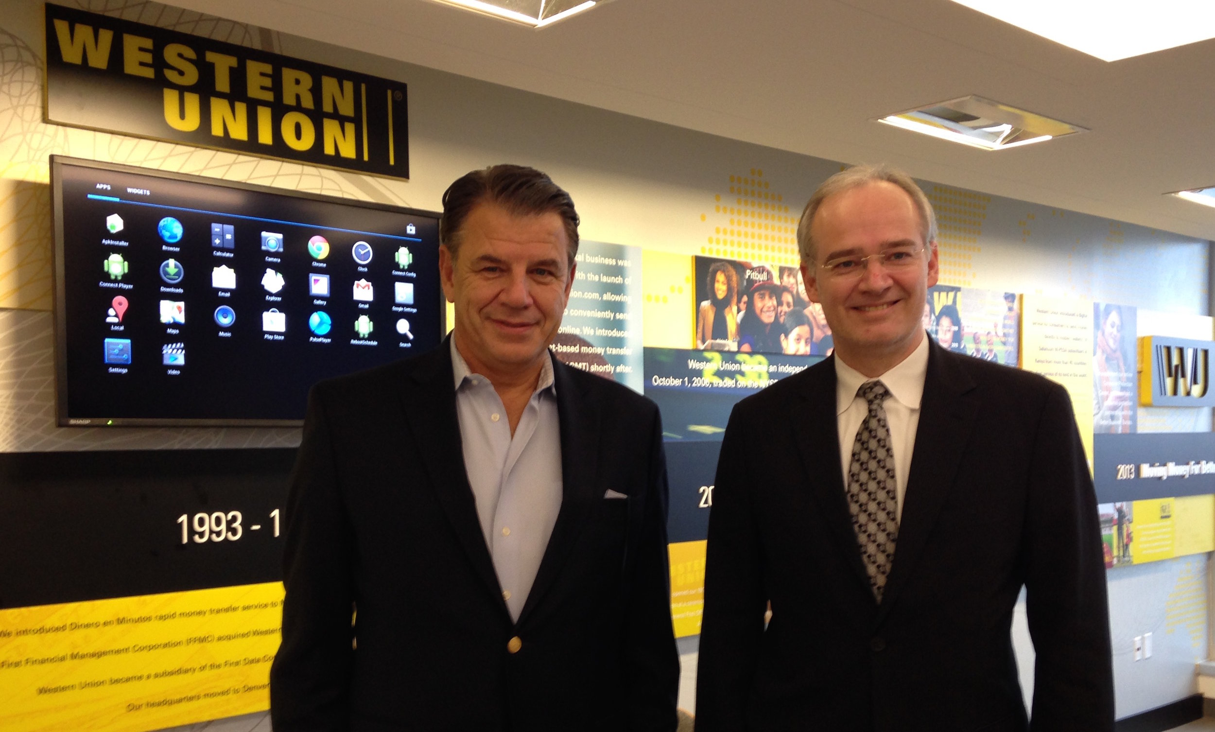 Austrian Honorary Consul Hikmet Ersek with Thorsten Eisingerich (right), the Director for Press and Information at the Austrian Embassy in Washington, DC, who conducted this interview