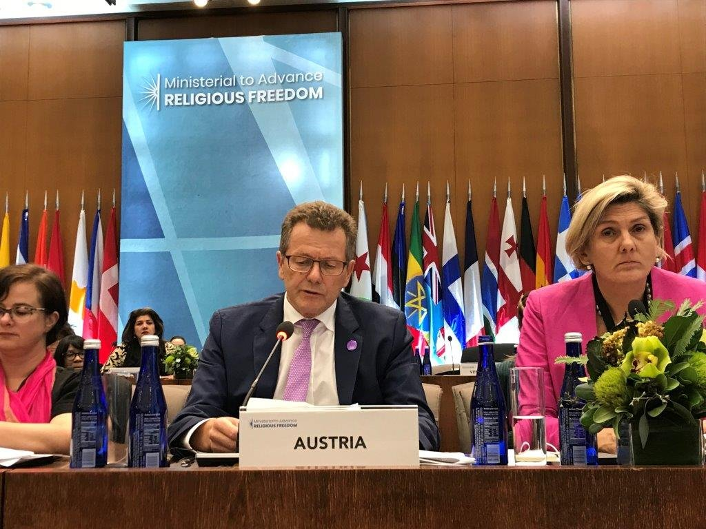 Ambassador Wolfgang Waldner delivers Austria's statement at the Ministerial in Washington, D.C.