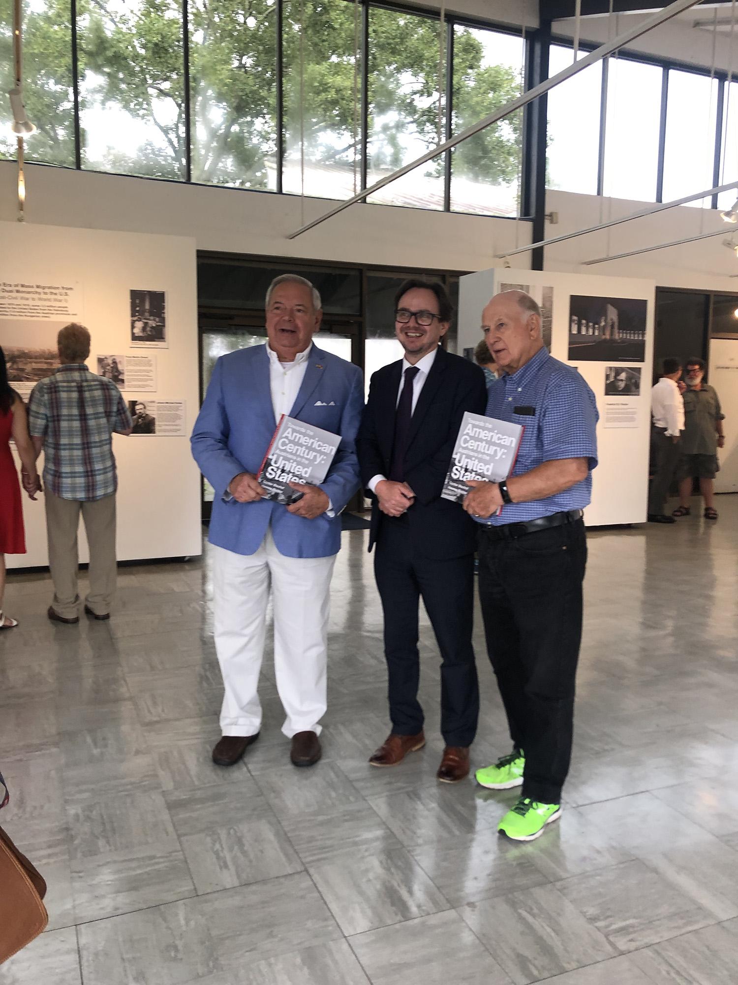 From left: Consul Philipp Lorio III, Hannes Richter, Professor Charles D. Hadley.