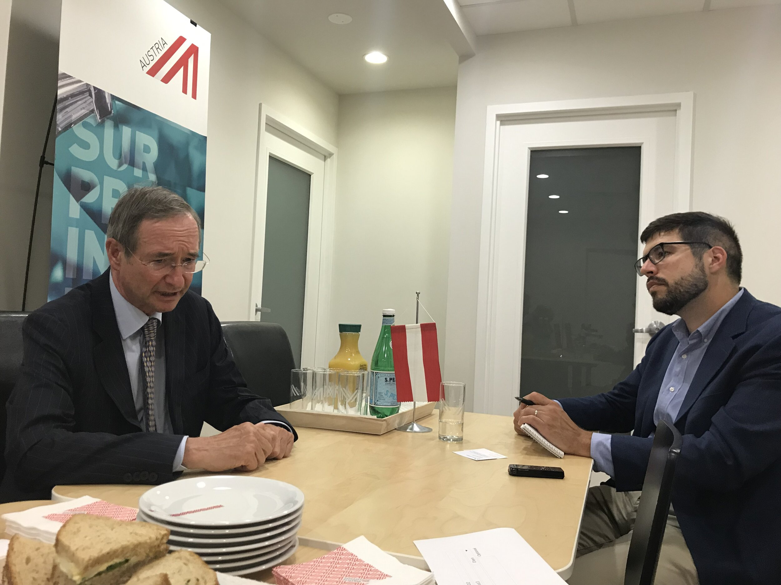 On the first leg of his U.S. visit, EUROCHAMBRES President Leitl held bilaterls in Washington, DC. There he talked with POLITICO trade reporter Adam Behsudi about the importance of transatlantic relations to our joint economic fabric