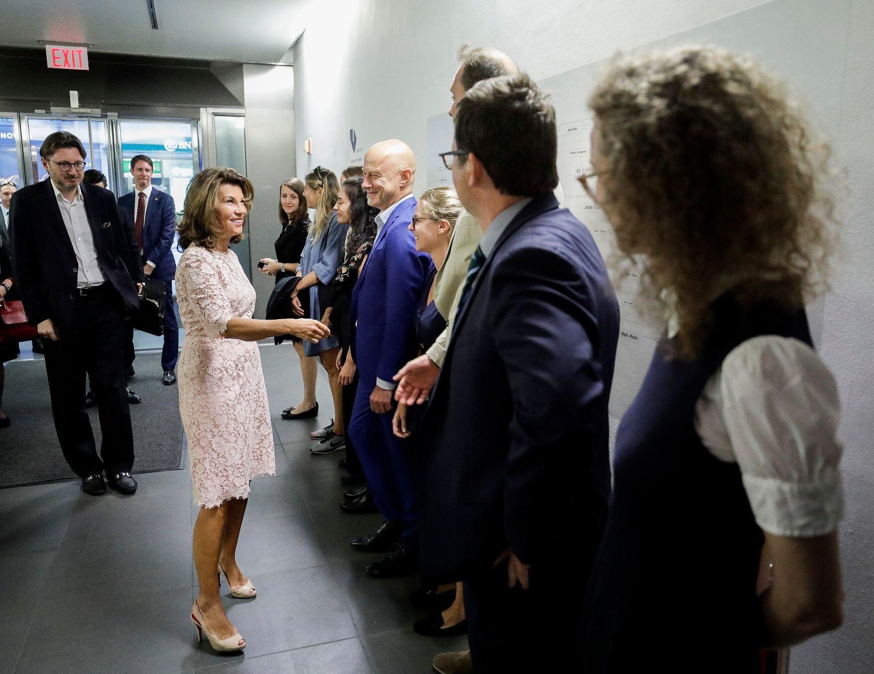 Federal Chancellor Brigitte Bierlein visits the Austrian Cultural Forum in New York City.    Photo: Austrian Federal Chancellery/ Andy Wenzel
