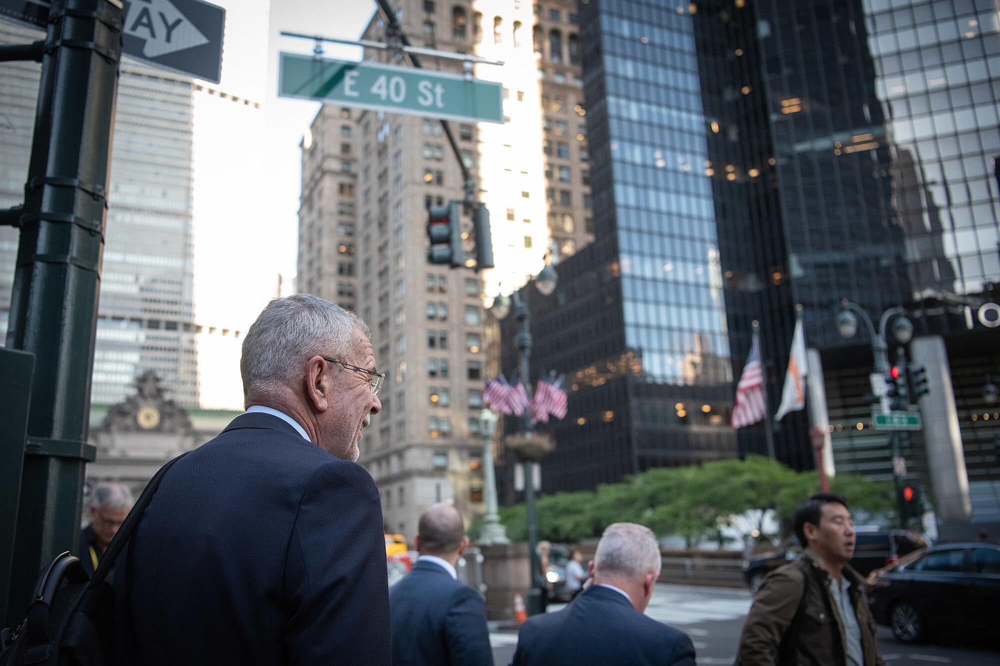 Austrian Federal President Alexander Van der Bellen in New York City.   Photo: Carina Karlovits/HBF