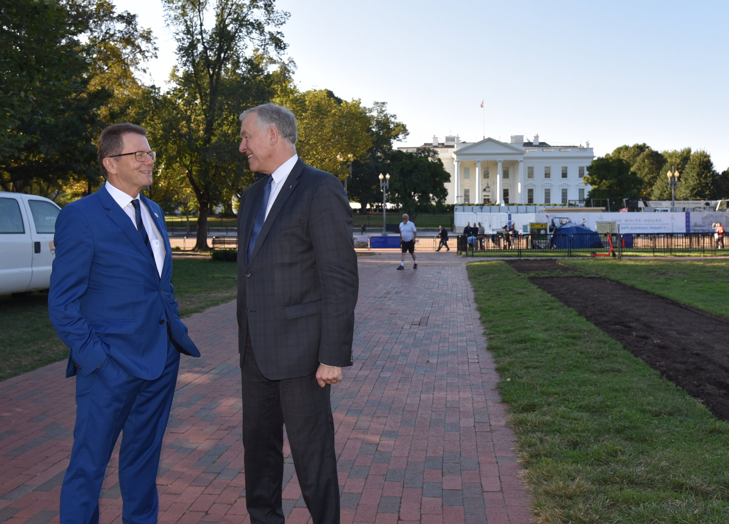 Austrian Ambassador Wolfgang Waldner with Lower Austria State Government Member Martin Eichtinger in Lafayette Square, north of the White House