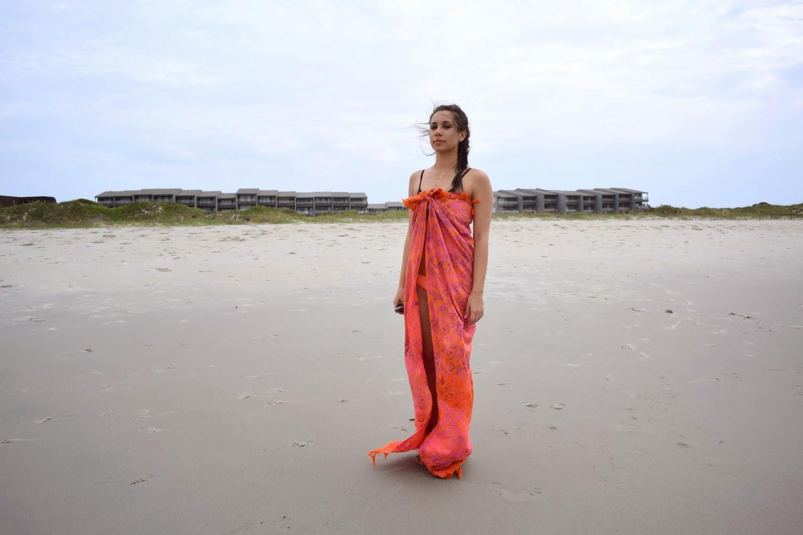 Triangl, beachwear, beach, Mel, Chanel, Westward, Leaning, Gorjana, gold, minimalist, jewelry, sarong, flip-flops, black and white, tan
