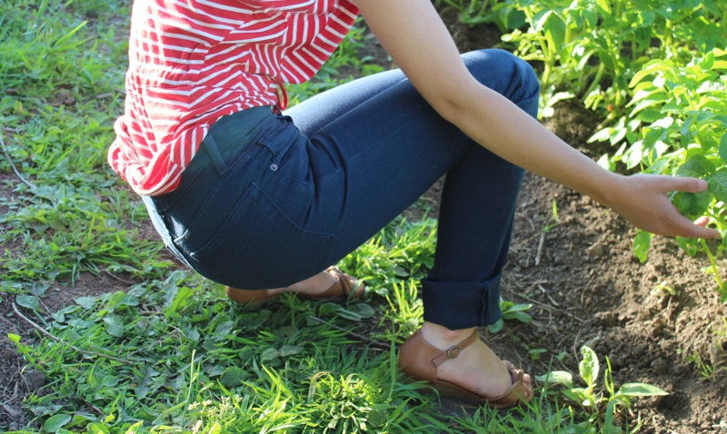 American Apparel Slim Slack Jeans Model Garden.jpg