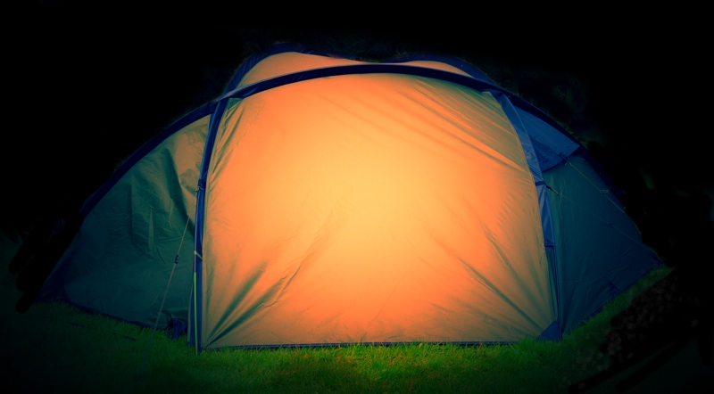 Snugpak Bunker Tent At Night Side View.jpg