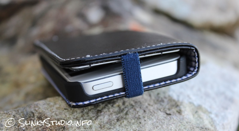 Toffee Flip Wallet Case for iPhone 5:5s Top Cut Out.jpg