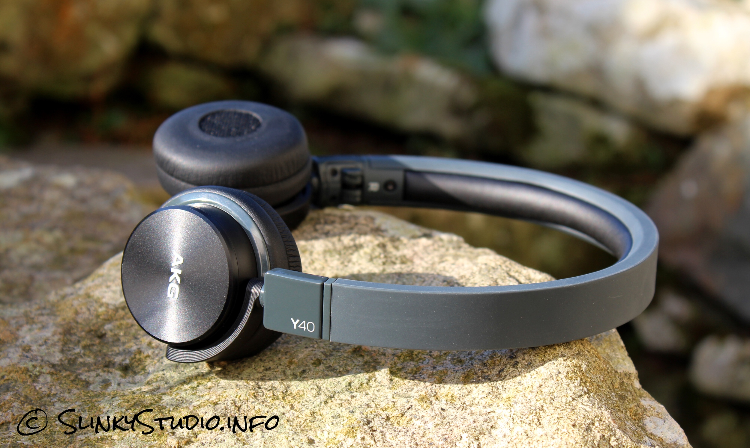 AKG Y40 Headphones Side View Black