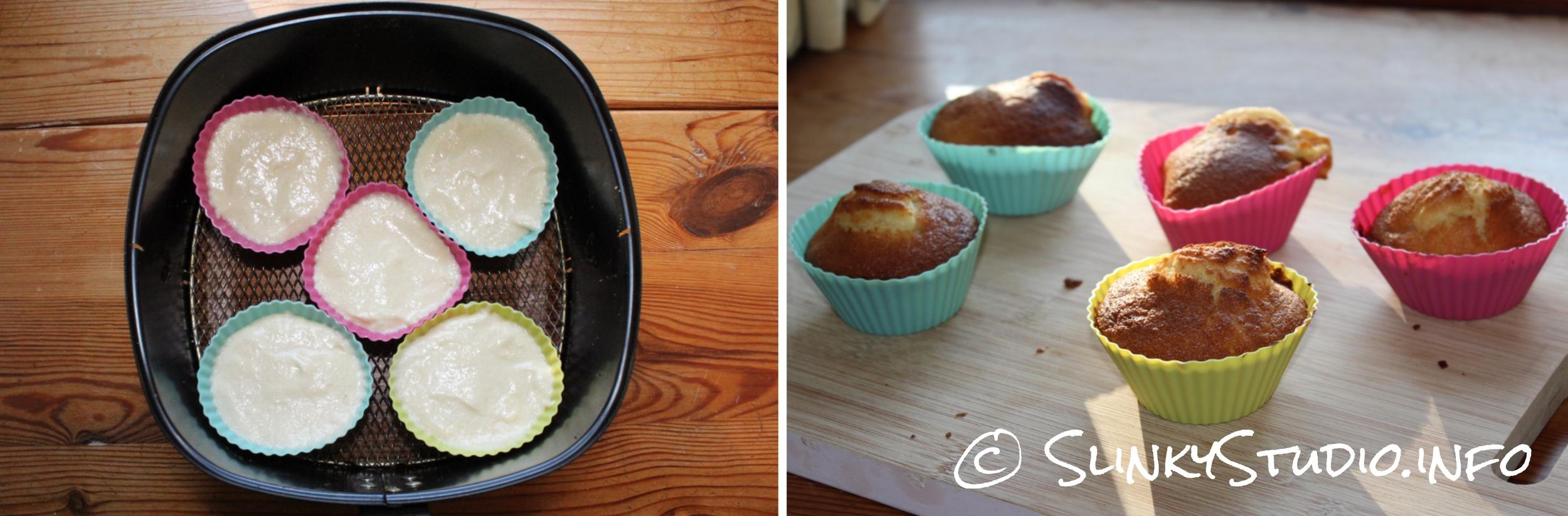 Philips Viva Airfryer Vanilla Cupcakes Results