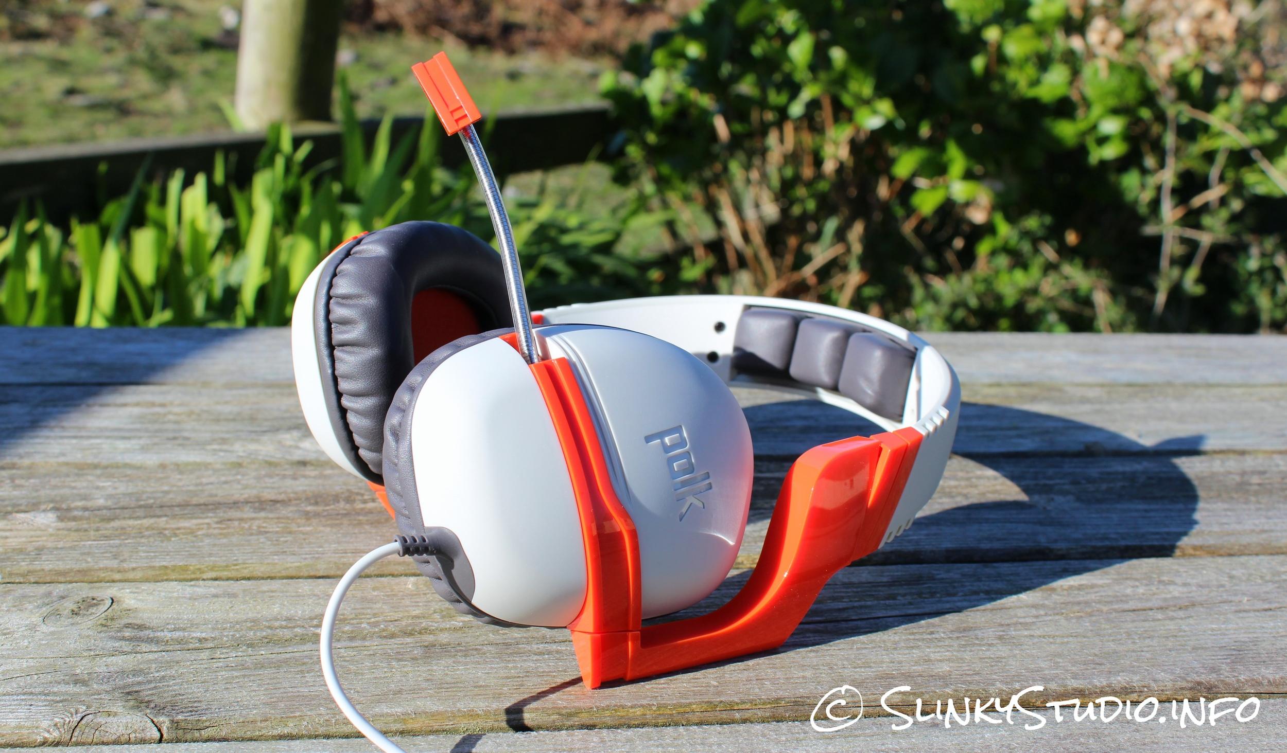 Polk Audio Striker ZX Gaming Headset Side View Microphone