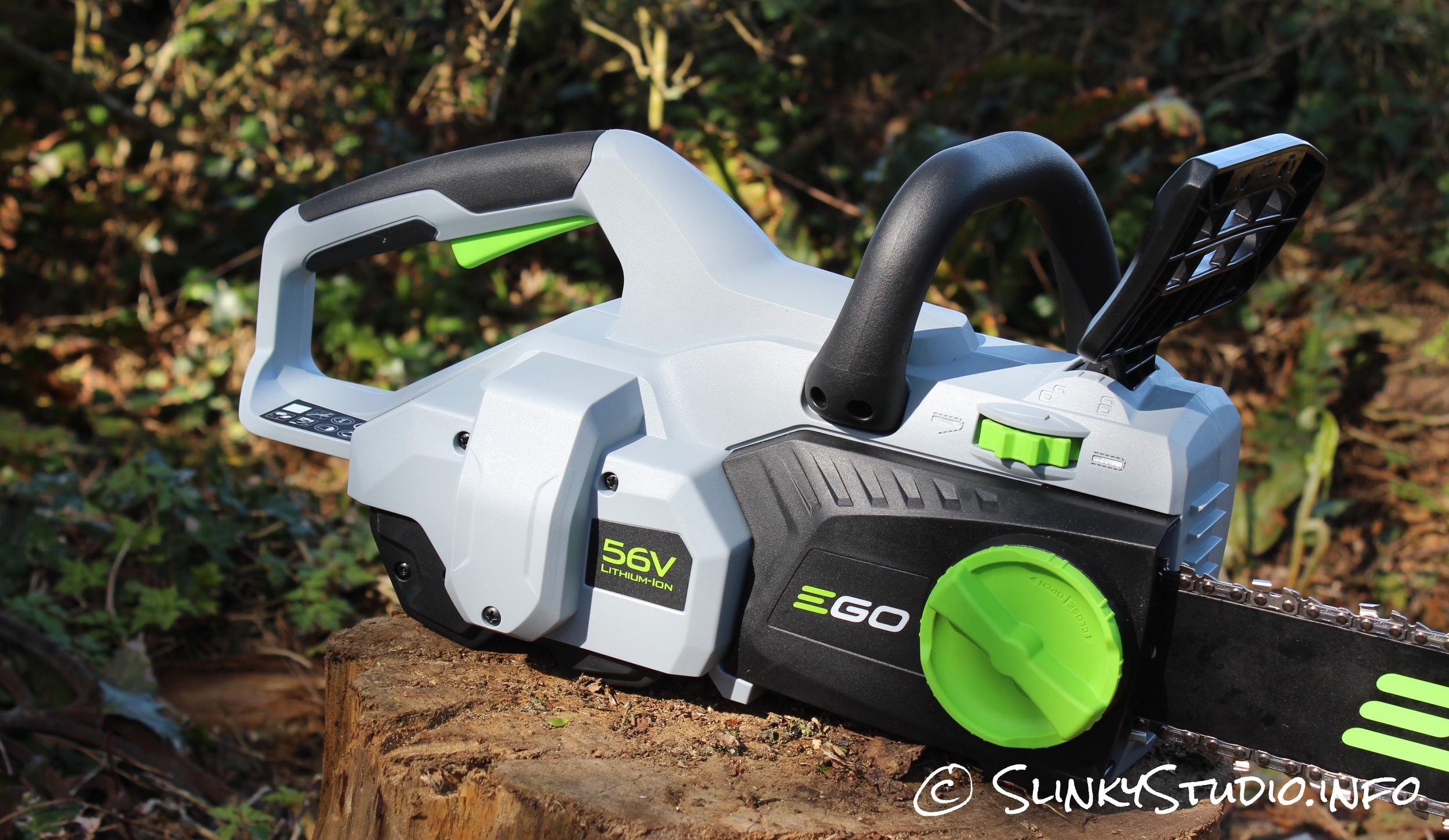 EGO Power+ Cordless Chainsaw Chain Brake, Power Button Side View.jpg