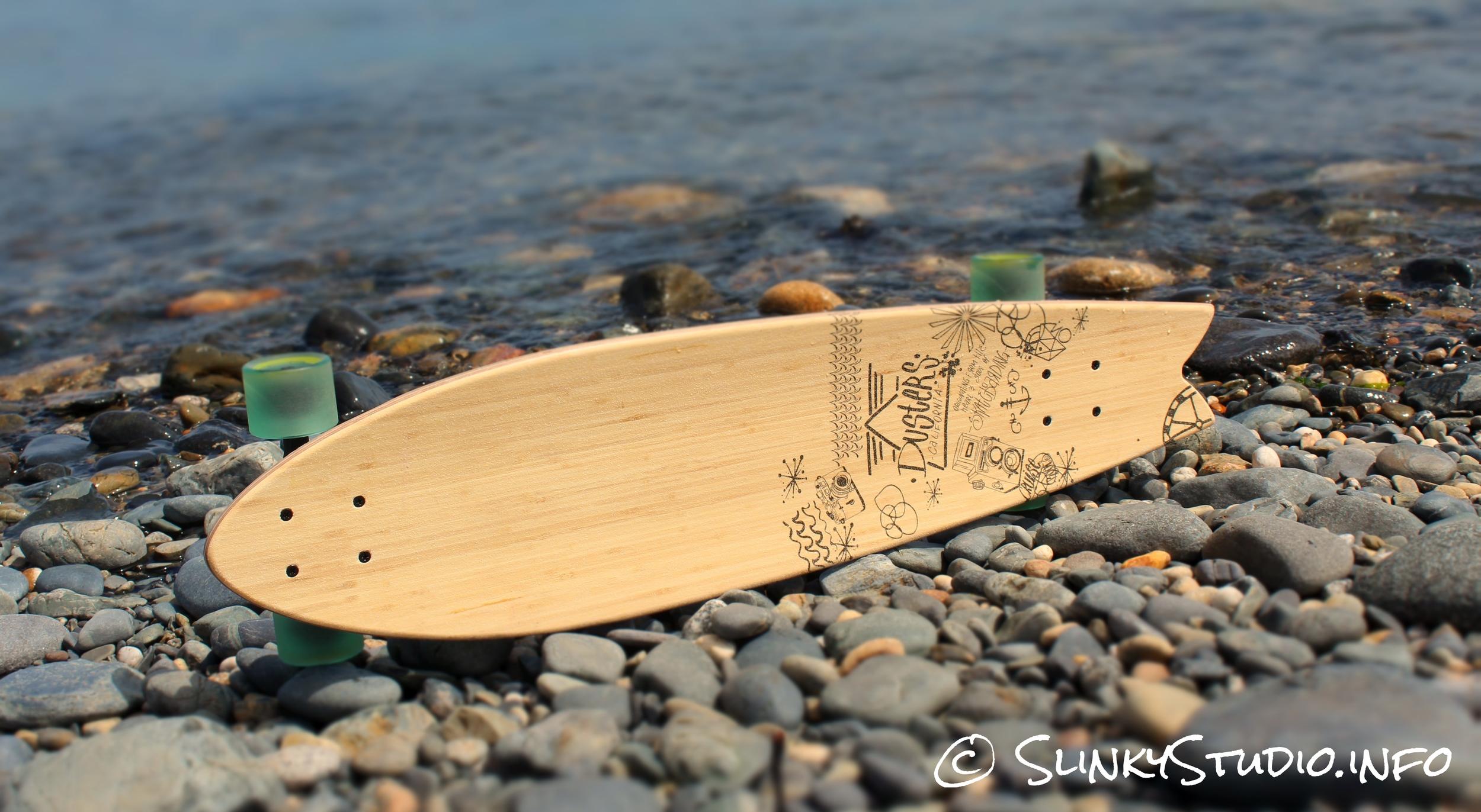 Dusters Snapshot Longboard Deck Full View
