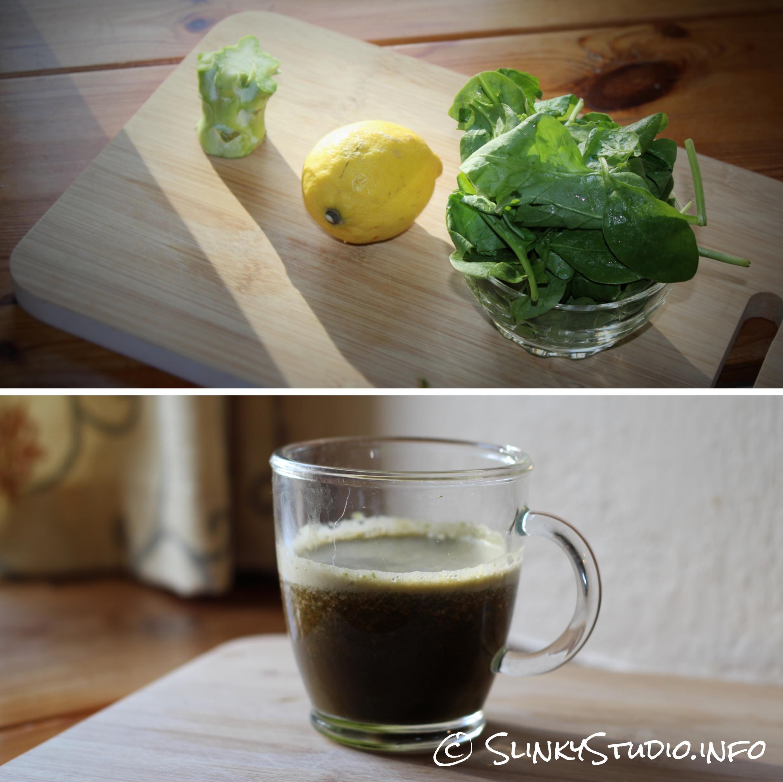 Novis Vita Juicer Spinach Broccoli Stem Lemon Juice