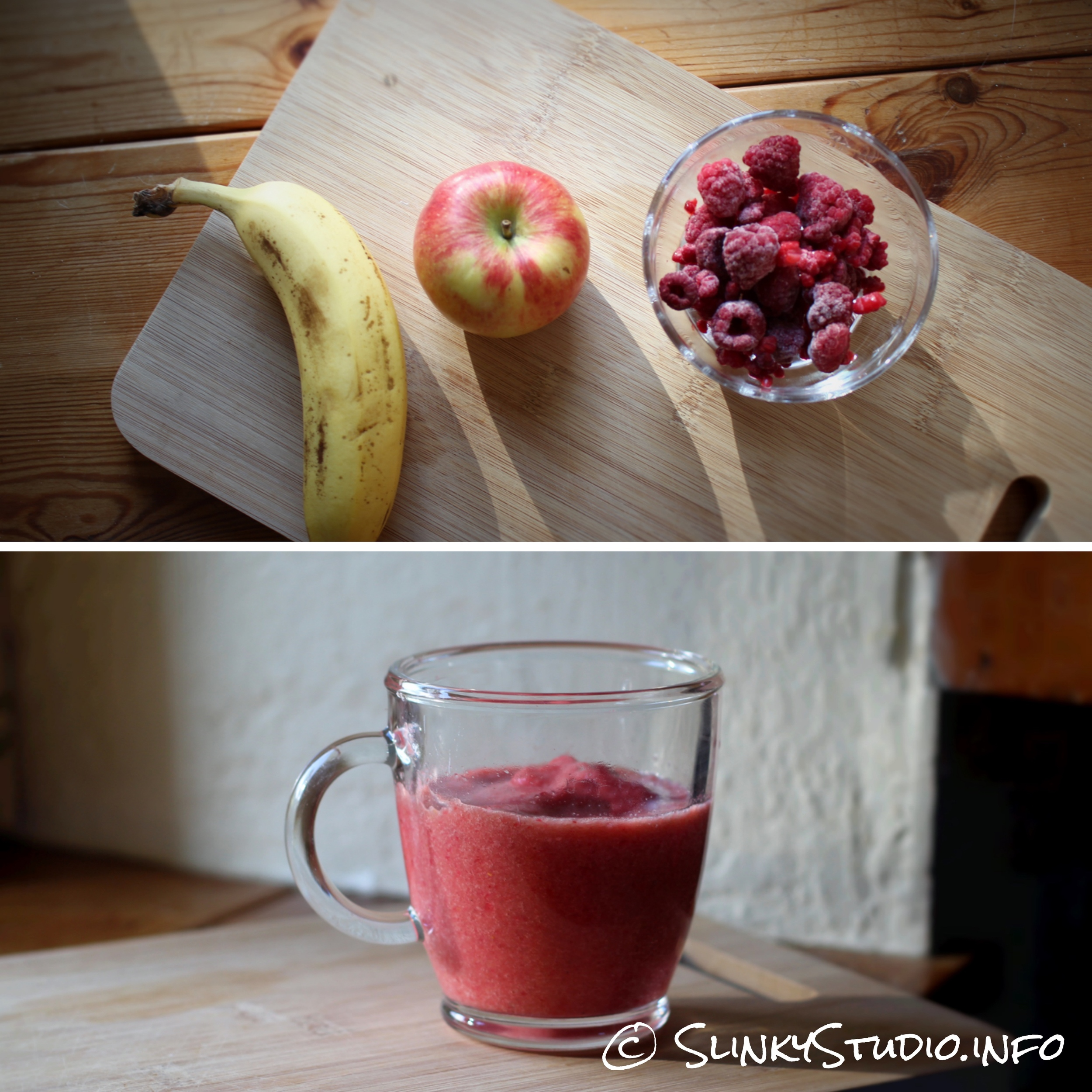 Novis Vita Juicer Apple Banana Raspberry Smoothie