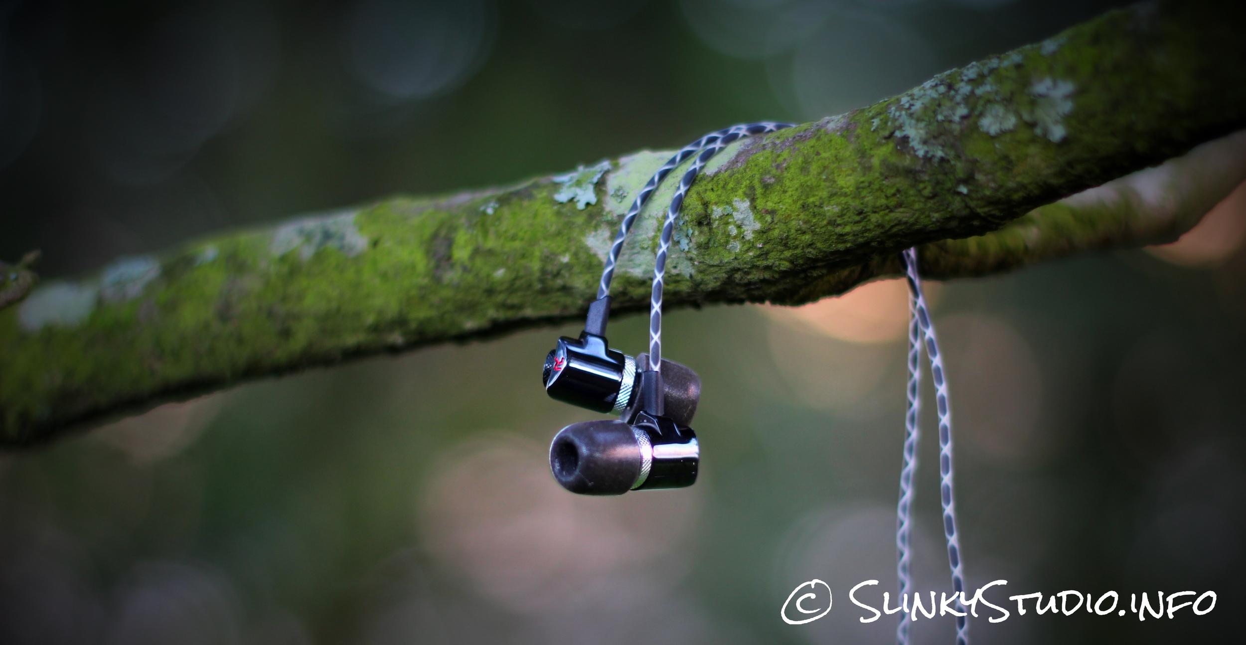 RBH EP3 Earphones Dangling From Tree