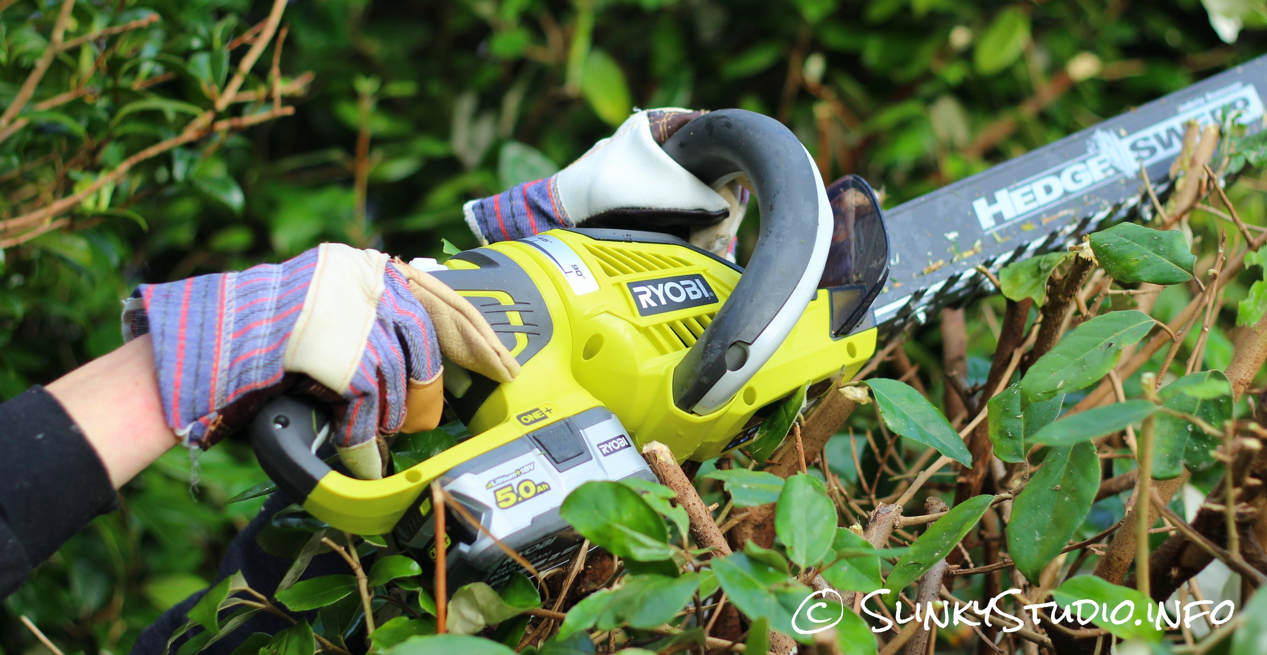 Ryobi 18V ONE+ Hedge Trimmer Review - Slinky Studio