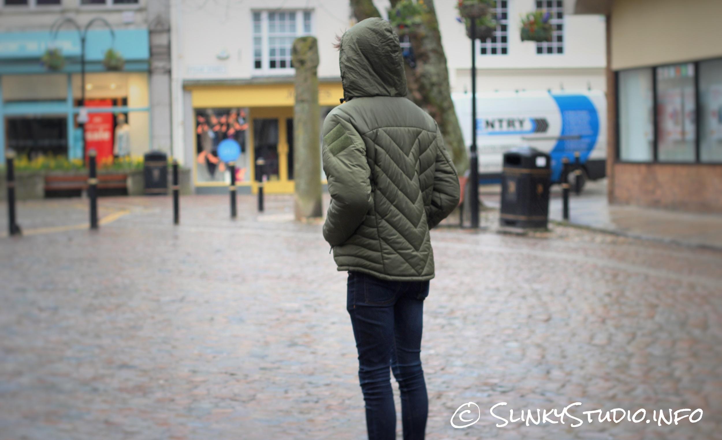 Snugpak SJ6 Jacket Hood Up Full Body Truro City Cornwall.jpg