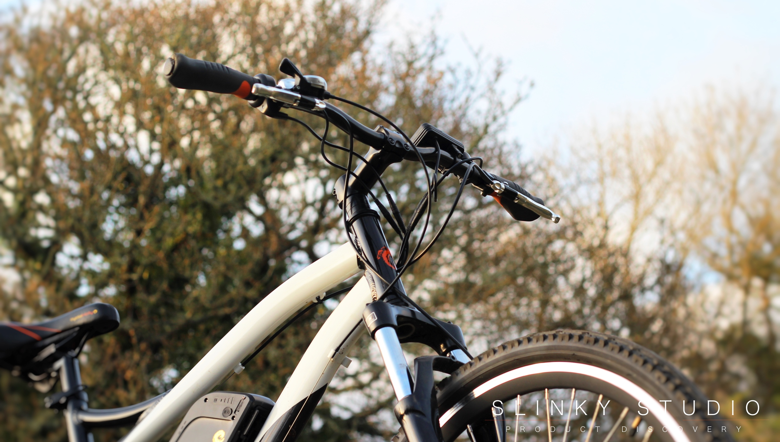 Cyclotricity Stealth eBike Front View Looking Upwards Through Tree Branches.jpg