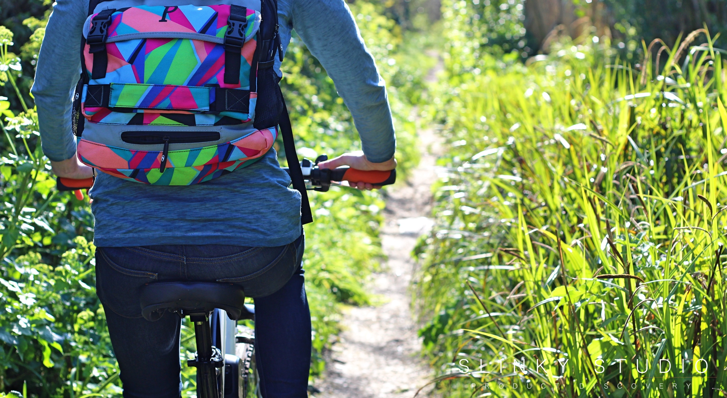 Cyclotricity Stealth eBike Riding Through Dirt Path Off Road Sunny Day Cornwall.jpg