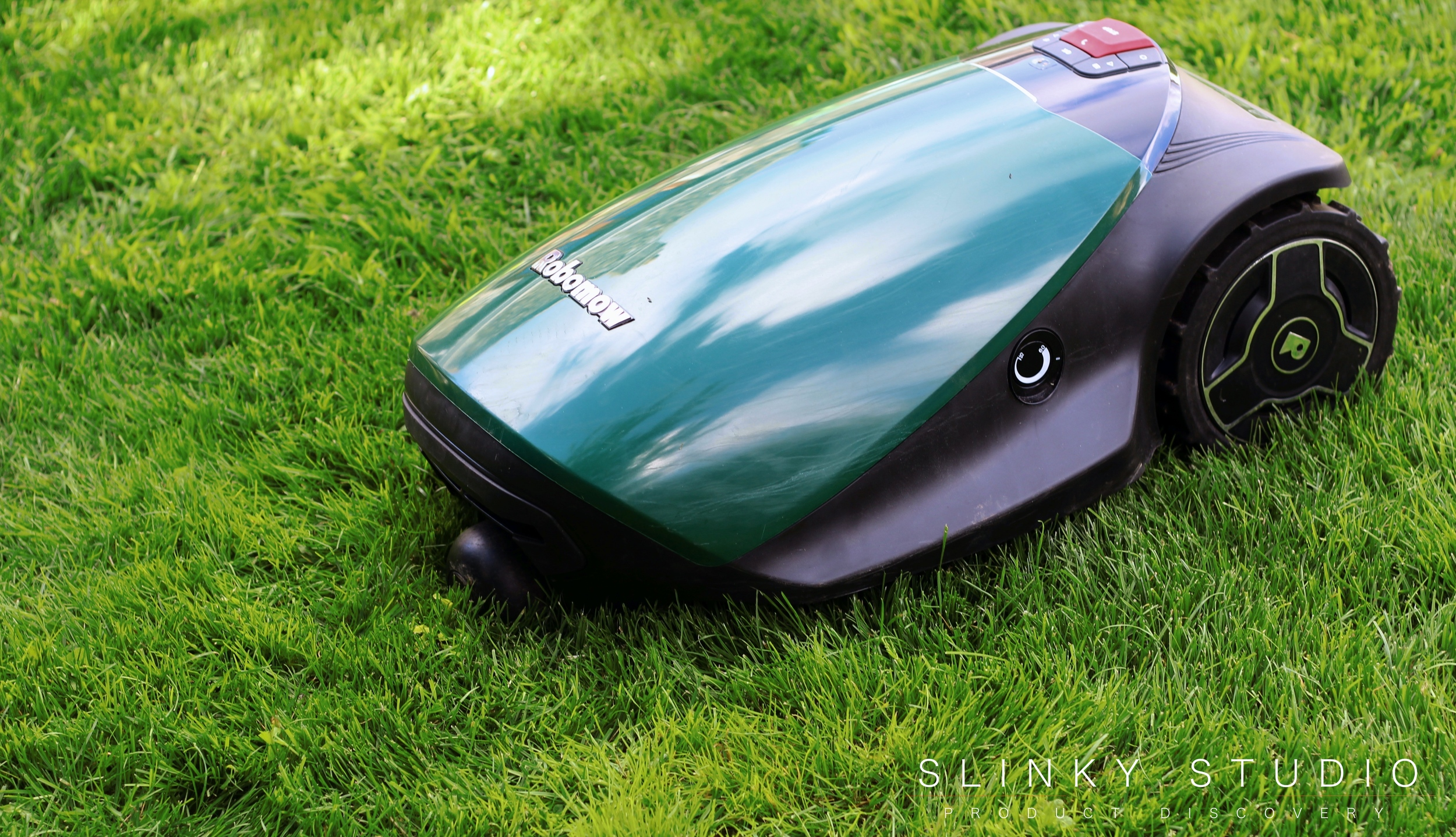 Robomow RC304 Robot Lawnmower Mowing Lawn Above View.jpg
