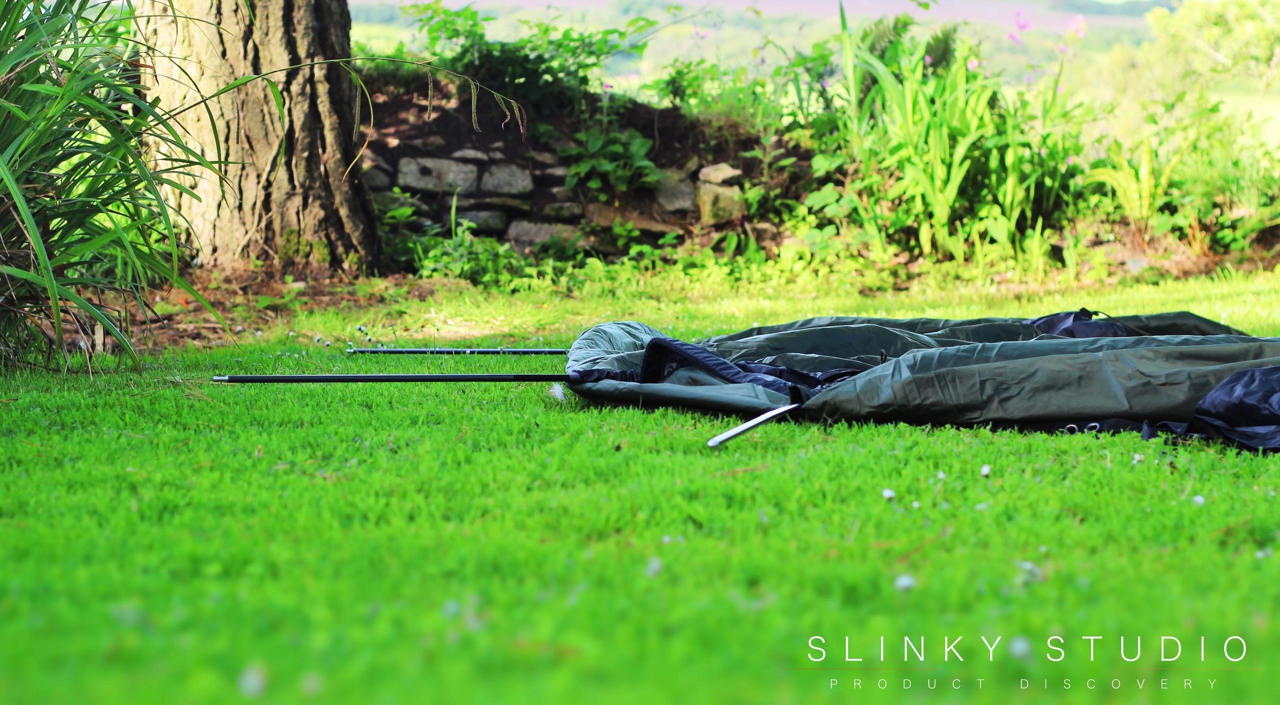 Snugpak Scorpion 3 Tent Poles Inserted on Ground.jpg