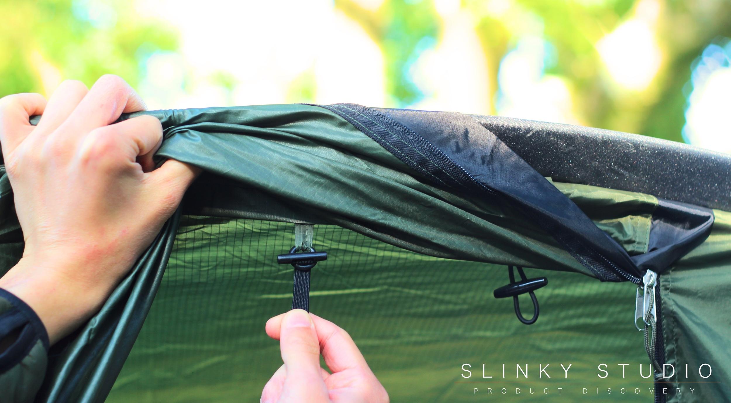 Snugpak Scorpion 3 Tent Attaching Flysheet to Inner Sheet.jpg