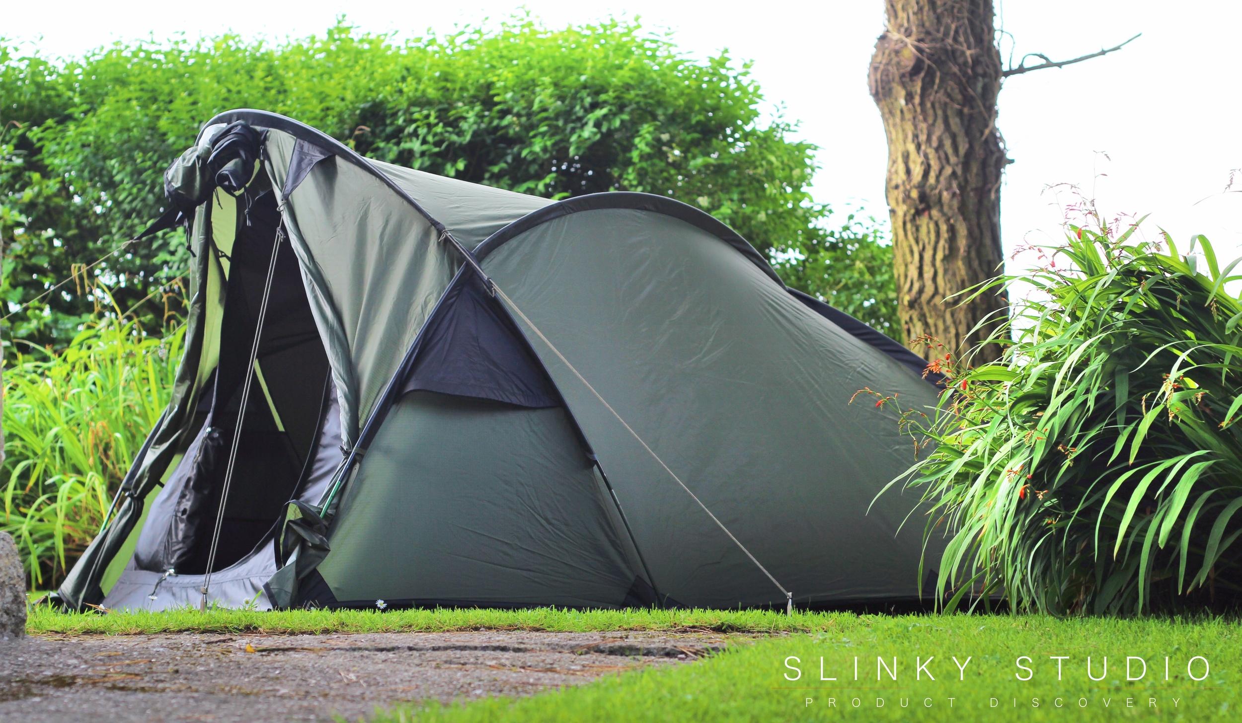 Snugpak Scorpion 3 Tent Side View Front Fully Open.jpg