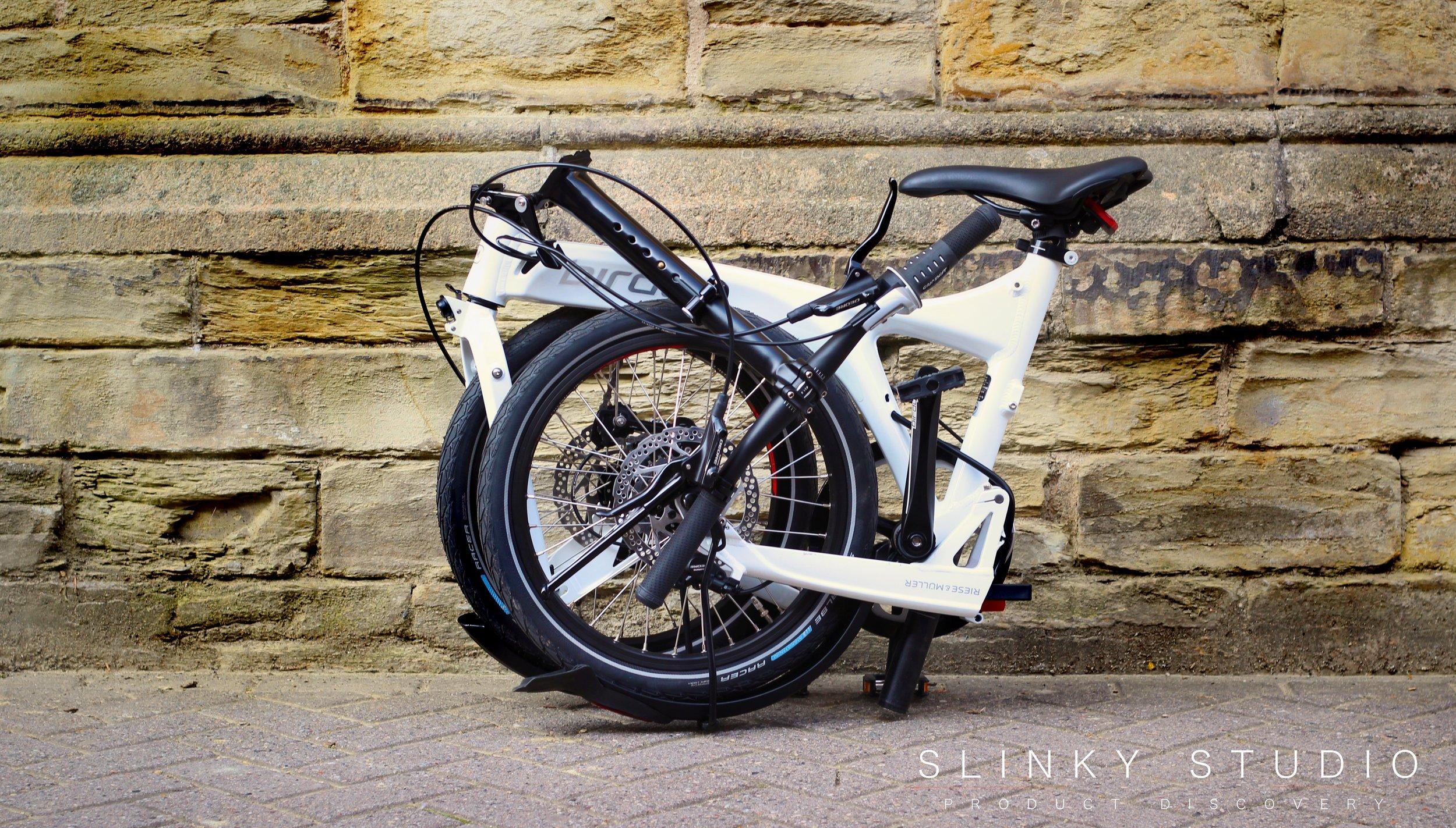 Birdy Speed Folding Bike Folded Againt Wall.jpg