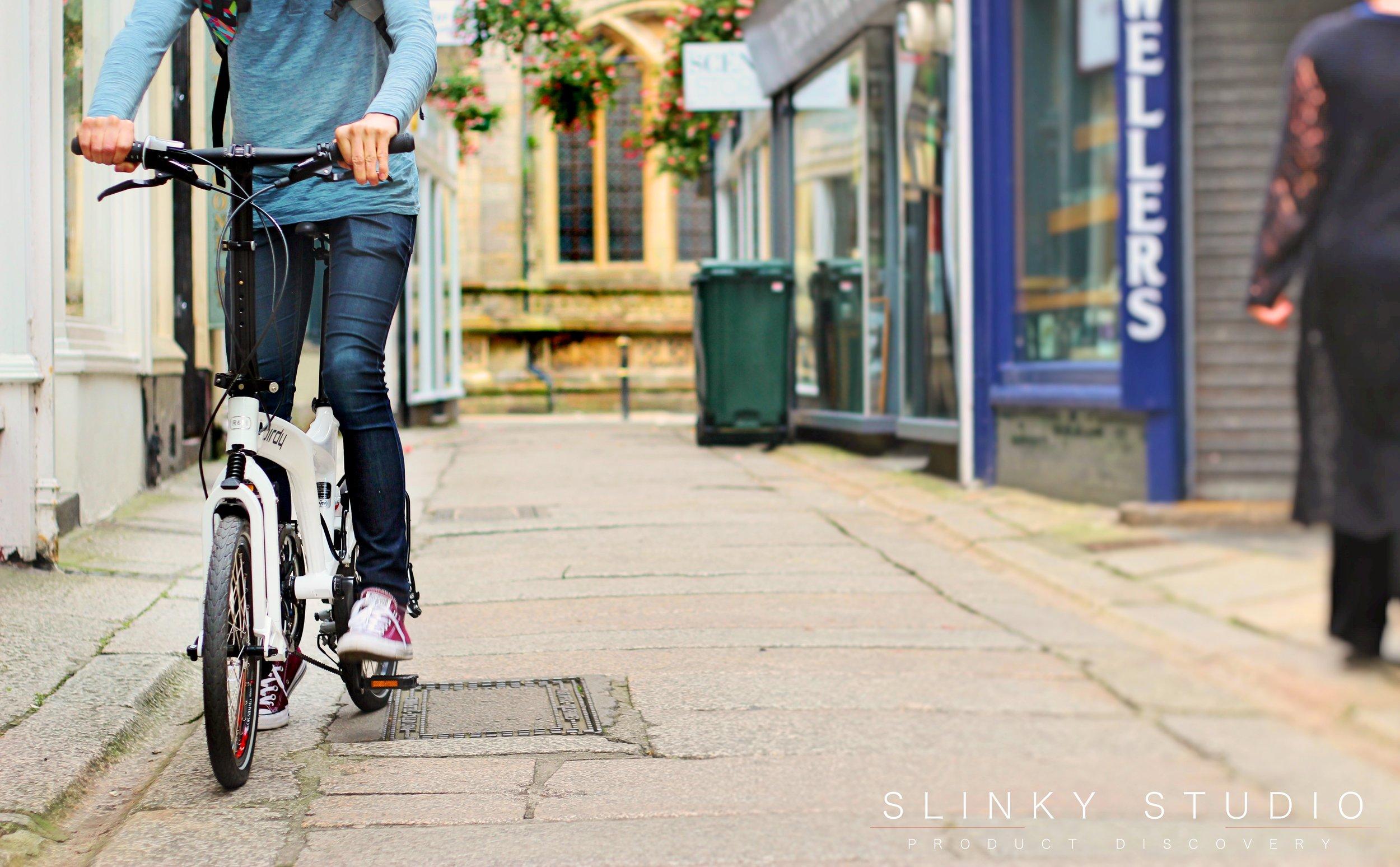 Birdy Speed Folding Bike Riding away of Cathedral.jpg