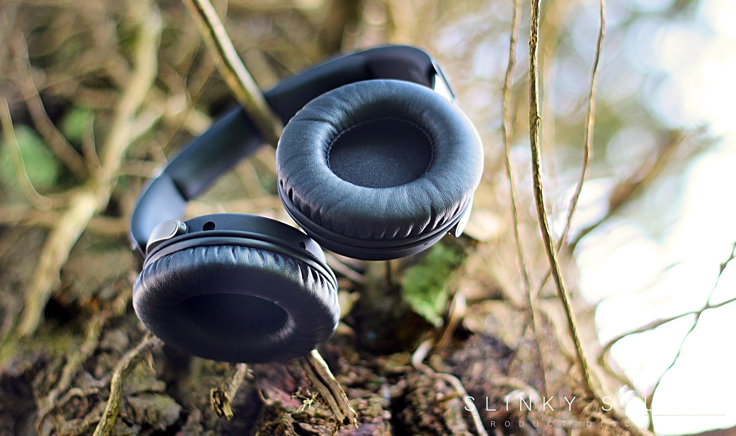 SoundMagic Vento P55 Headphones Ear Pads Hanging On Tree View.jpg