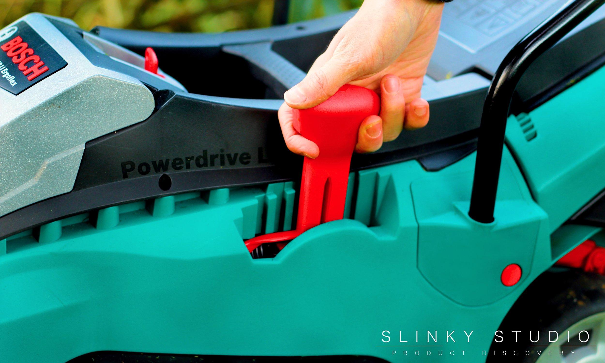 Bosch Rotak 43 LI Ergoflex Cordless Lawnmower Height Adjustment Lever.jpg