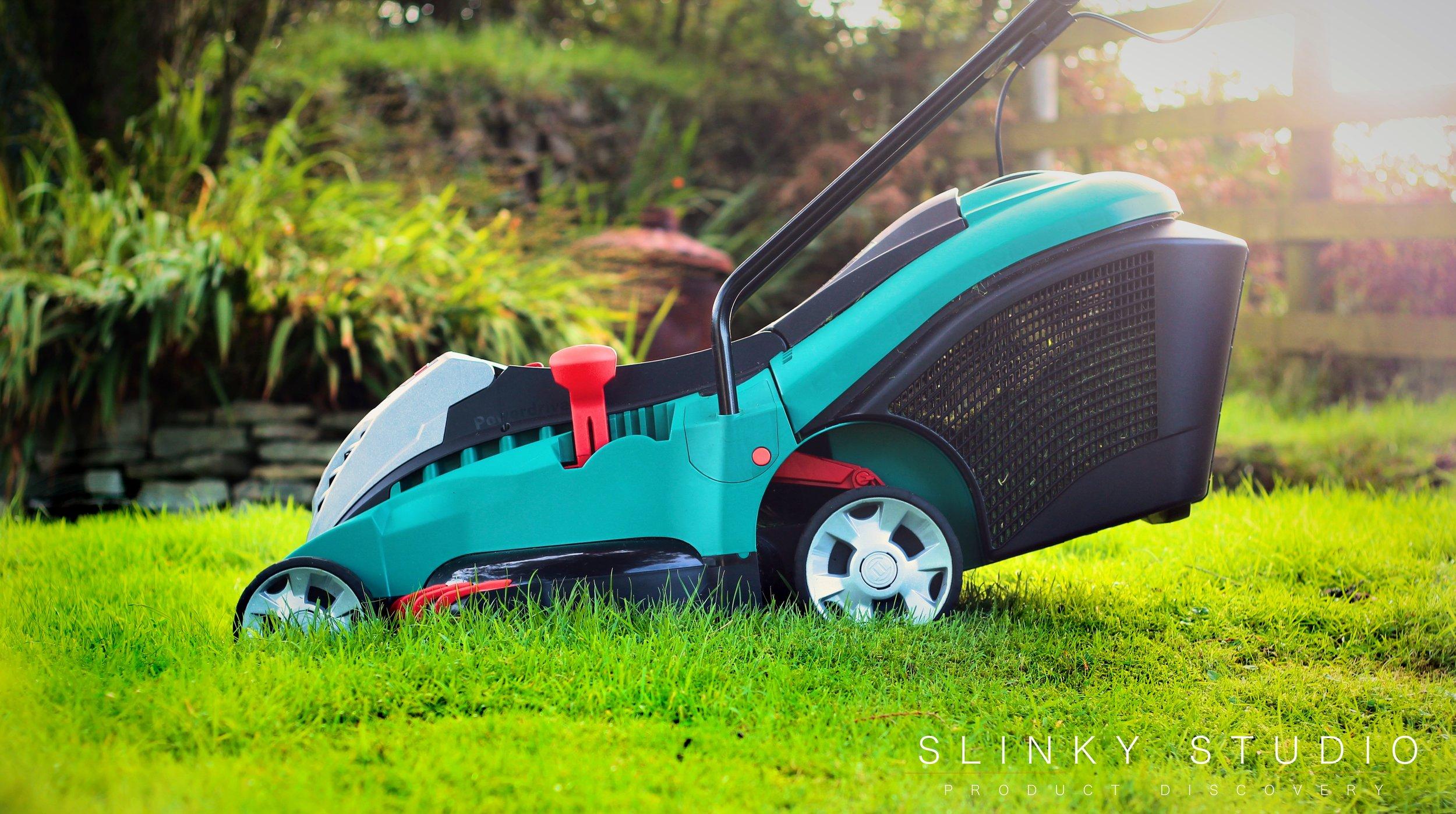 Bosch Rotak 43 LI Ergoflex Cordless Lawnmower Side View.jpg