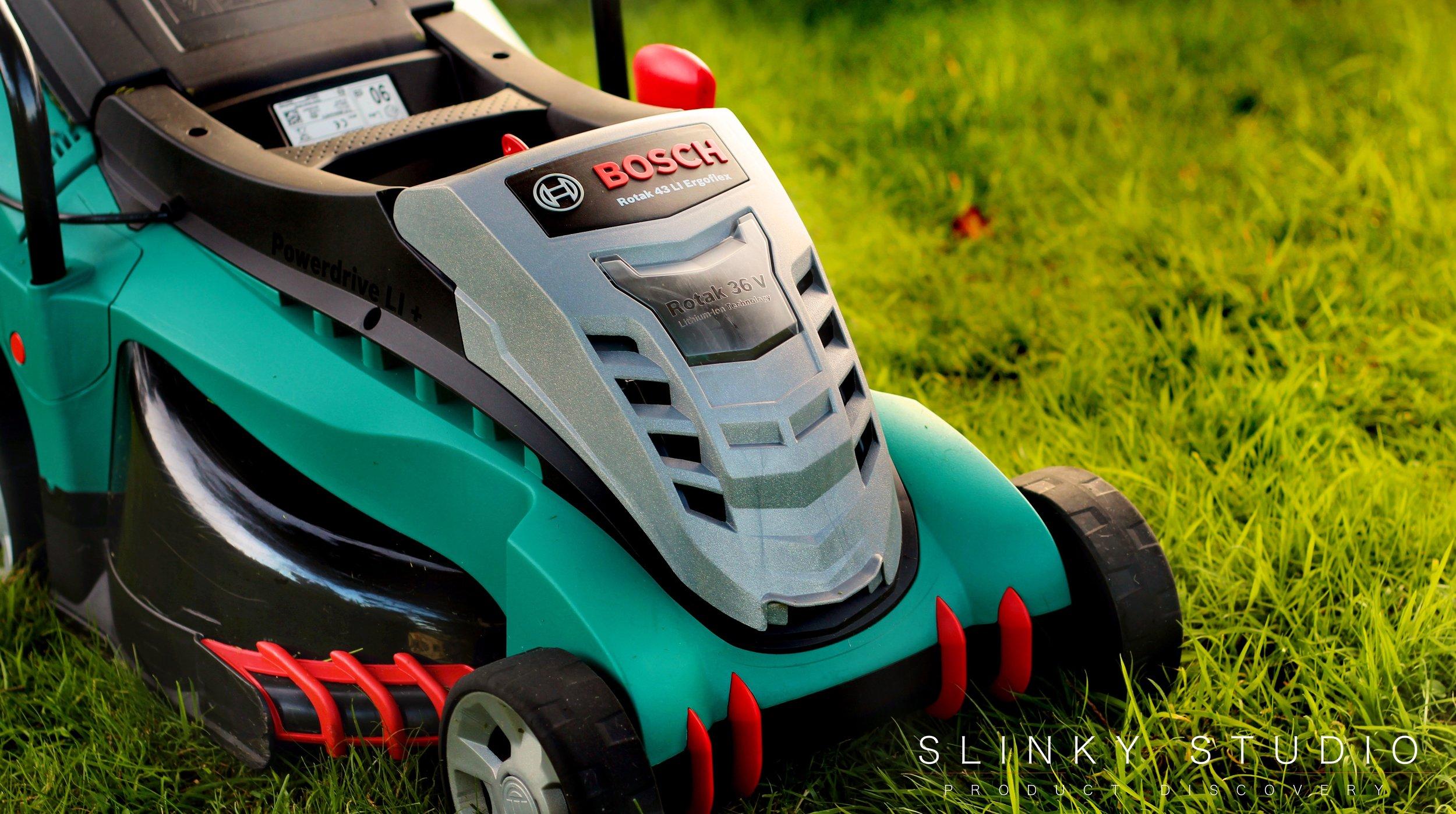 Bosch Rotak 43 LI Ergoflex Cordless Lawnmower Front Side View.jpg