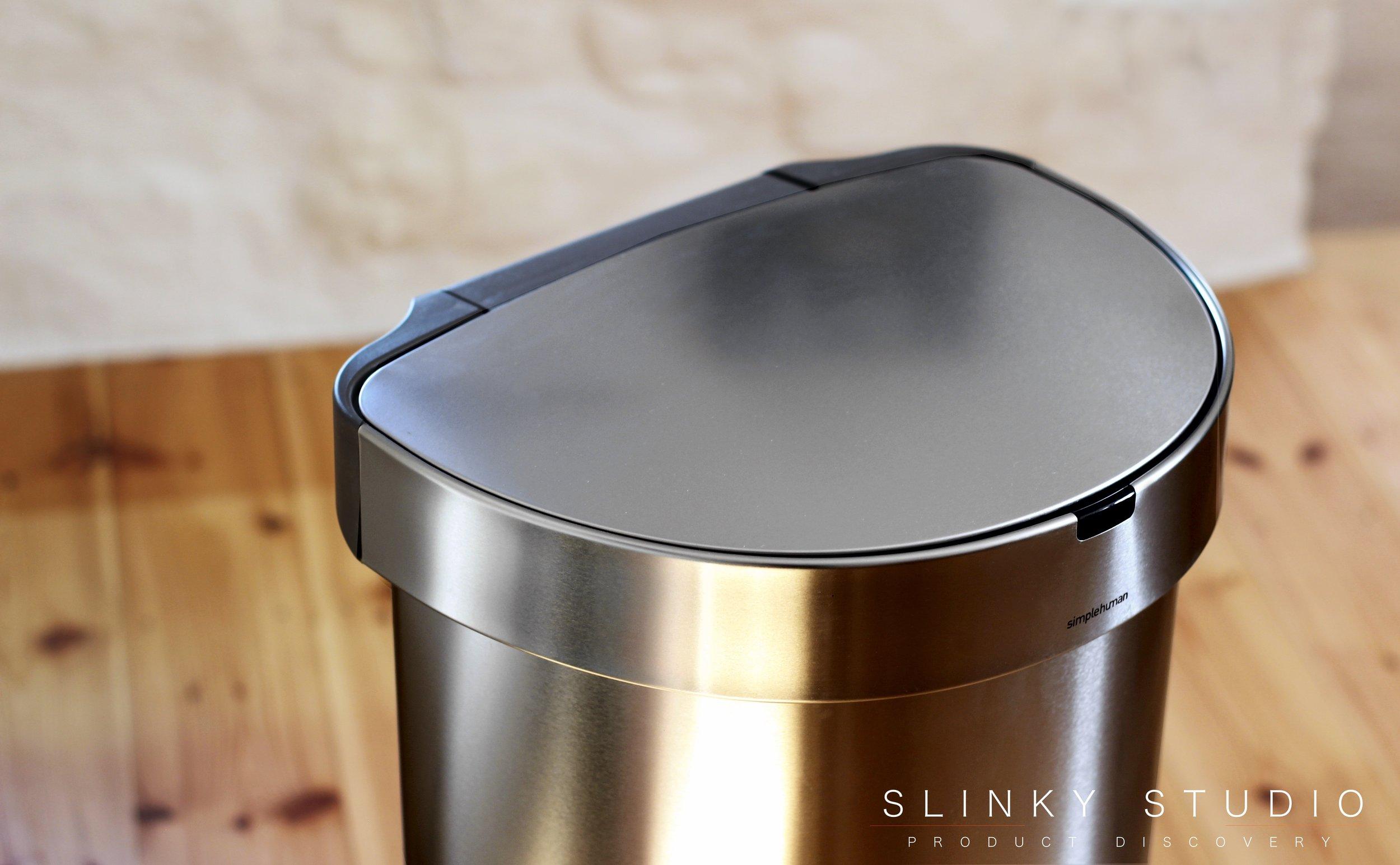 simplehuman 45 litre Semi-Round Sensor Bin Above View.jpg