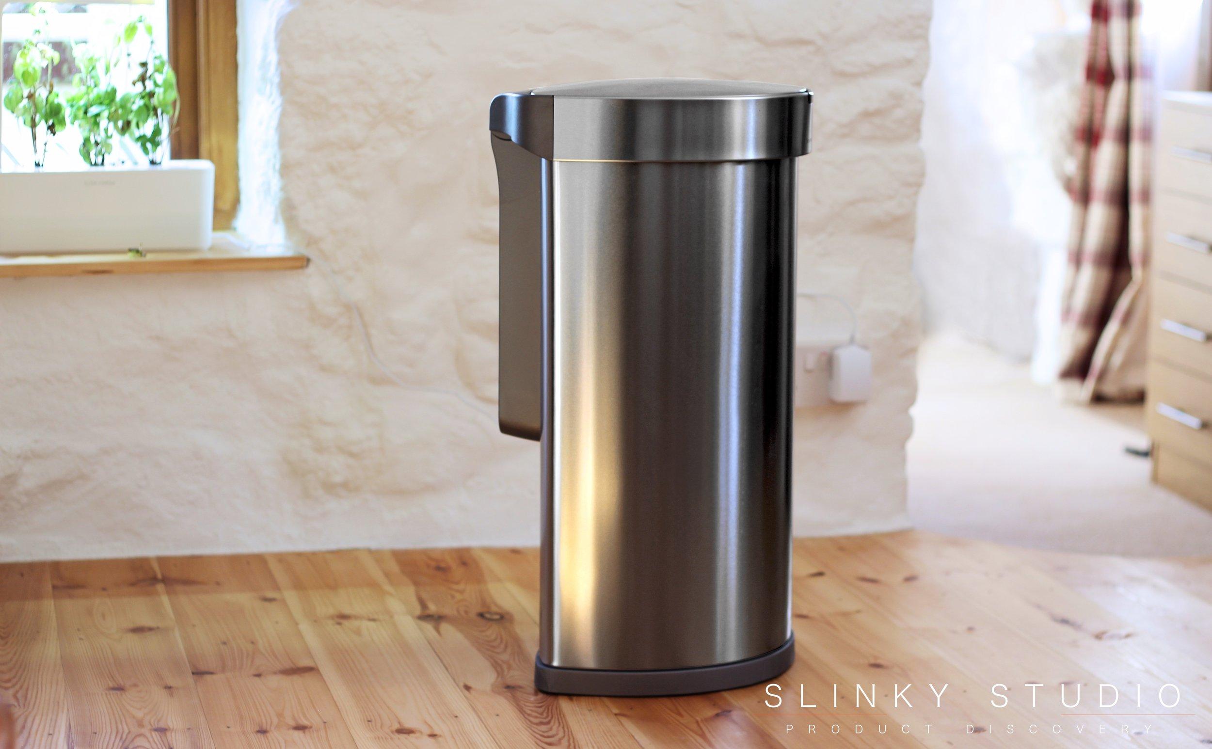 simplehuman 45 litre Semi-Round Sensor Bin Side View.jpg