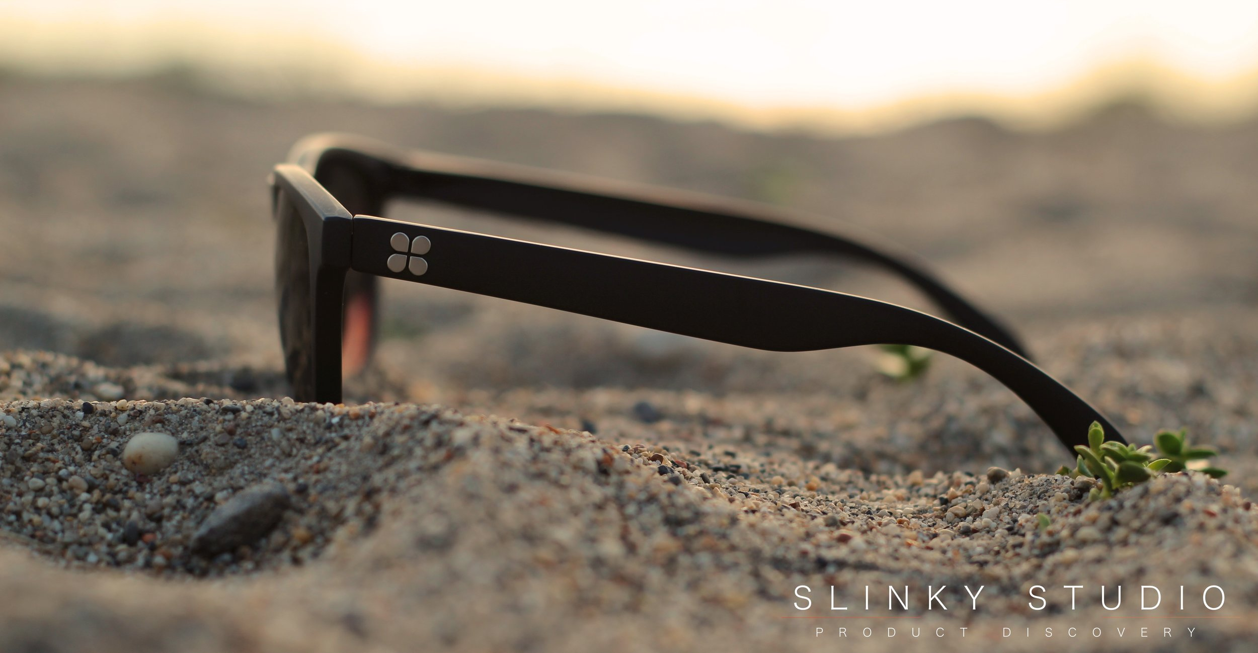 SunGod Classics² Sunglasses Side View On Beach.jpg