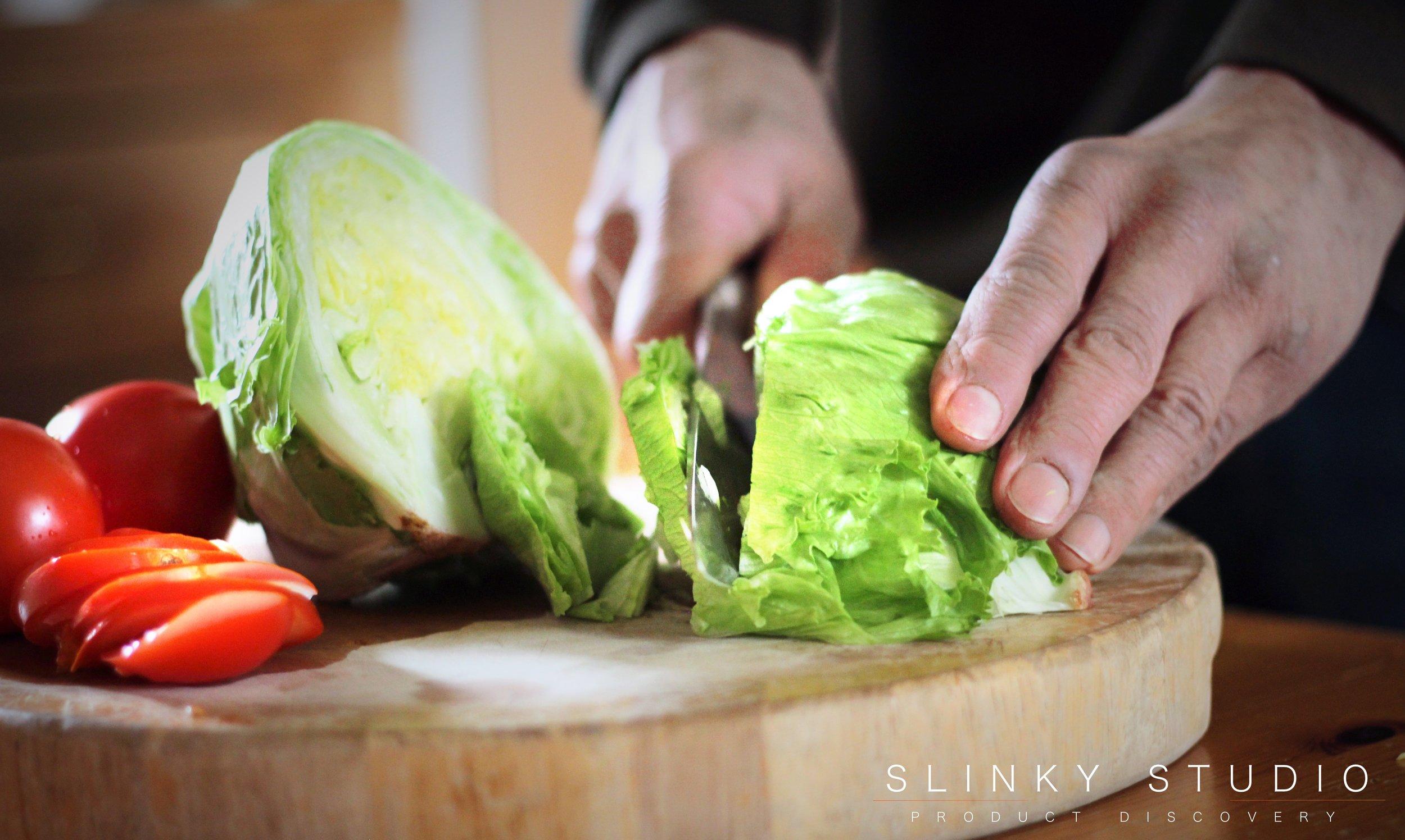 KitchenAid 7pc Professional Series Cutlery Set 8%22Chef Knife Cutting Lettuce.jpg