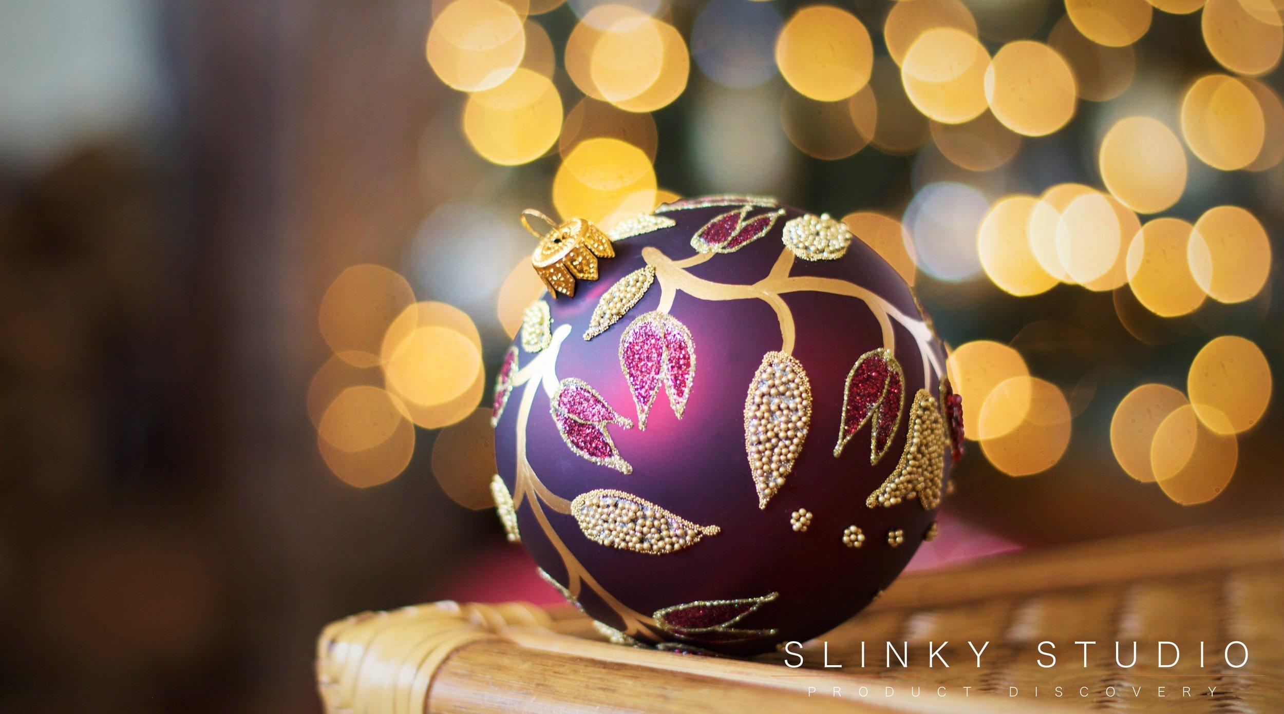 Balsam Hill Fraser Fir Christmas Tree Burgandy Glass Ornament Bauble Decoration.jpg