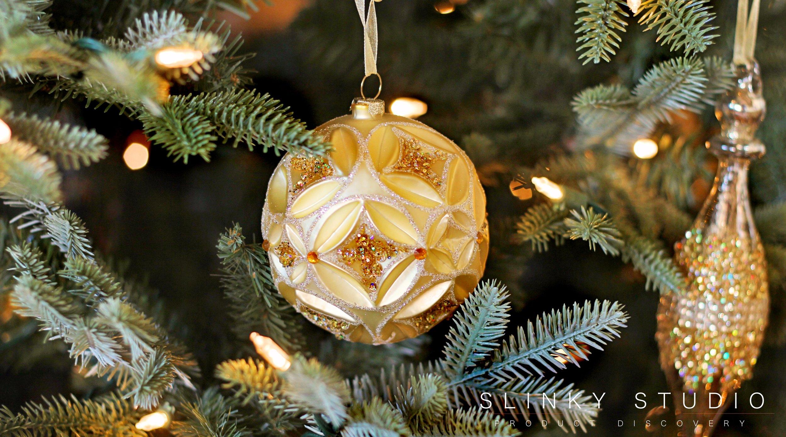 Balsam Hill Fraser Fir Christmas Tree Gold Glass Ornament Decoration.jpg