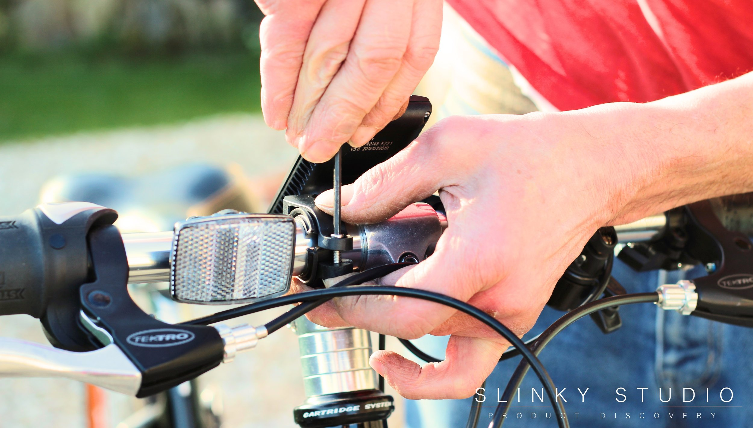 Dillenger eBike Street Legal Conversion Kit Screwing on LED Display.jpg