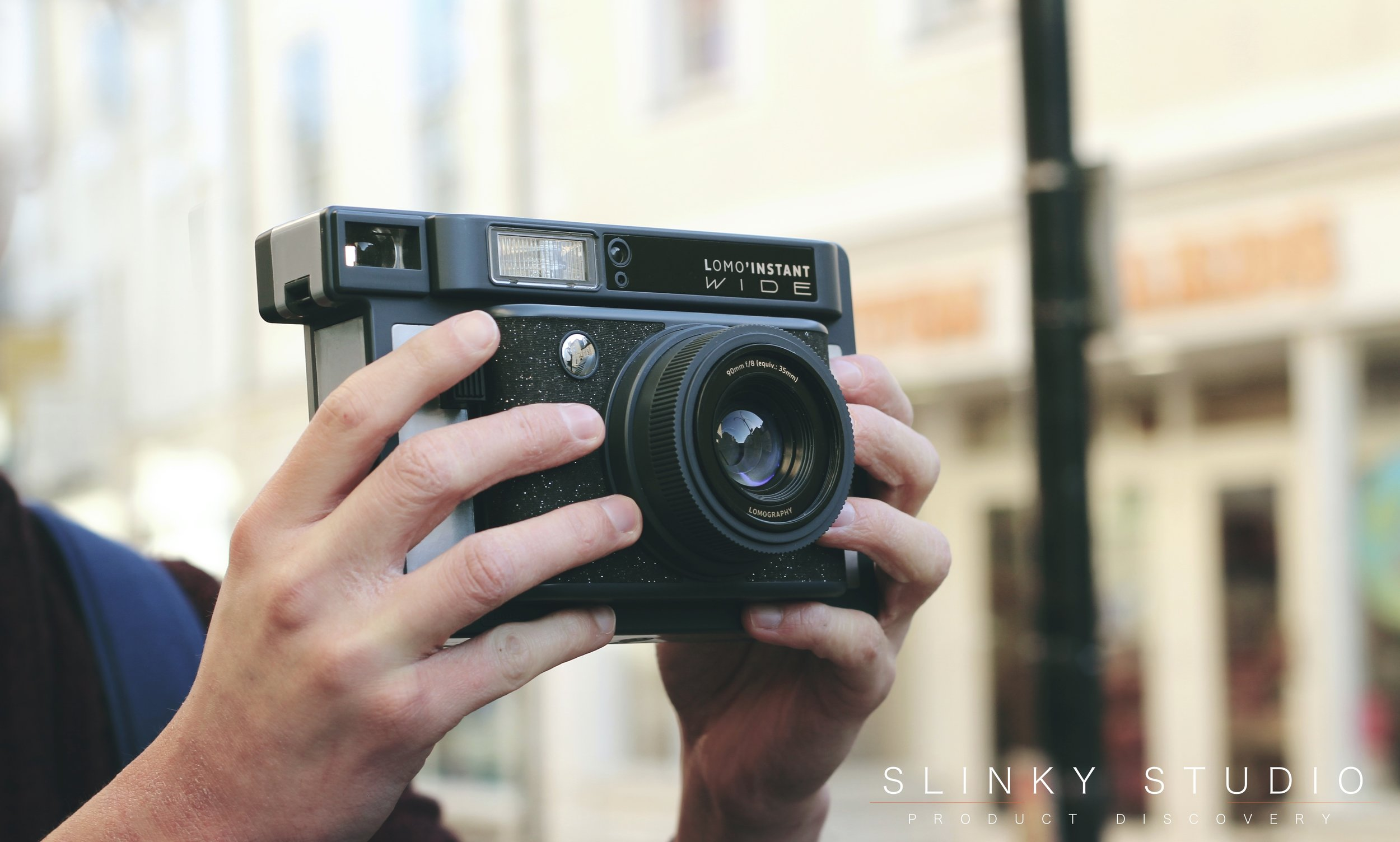 Lomography Lomo'Instant Wide Camera Taking Photos in Truro Cornwall.jpg