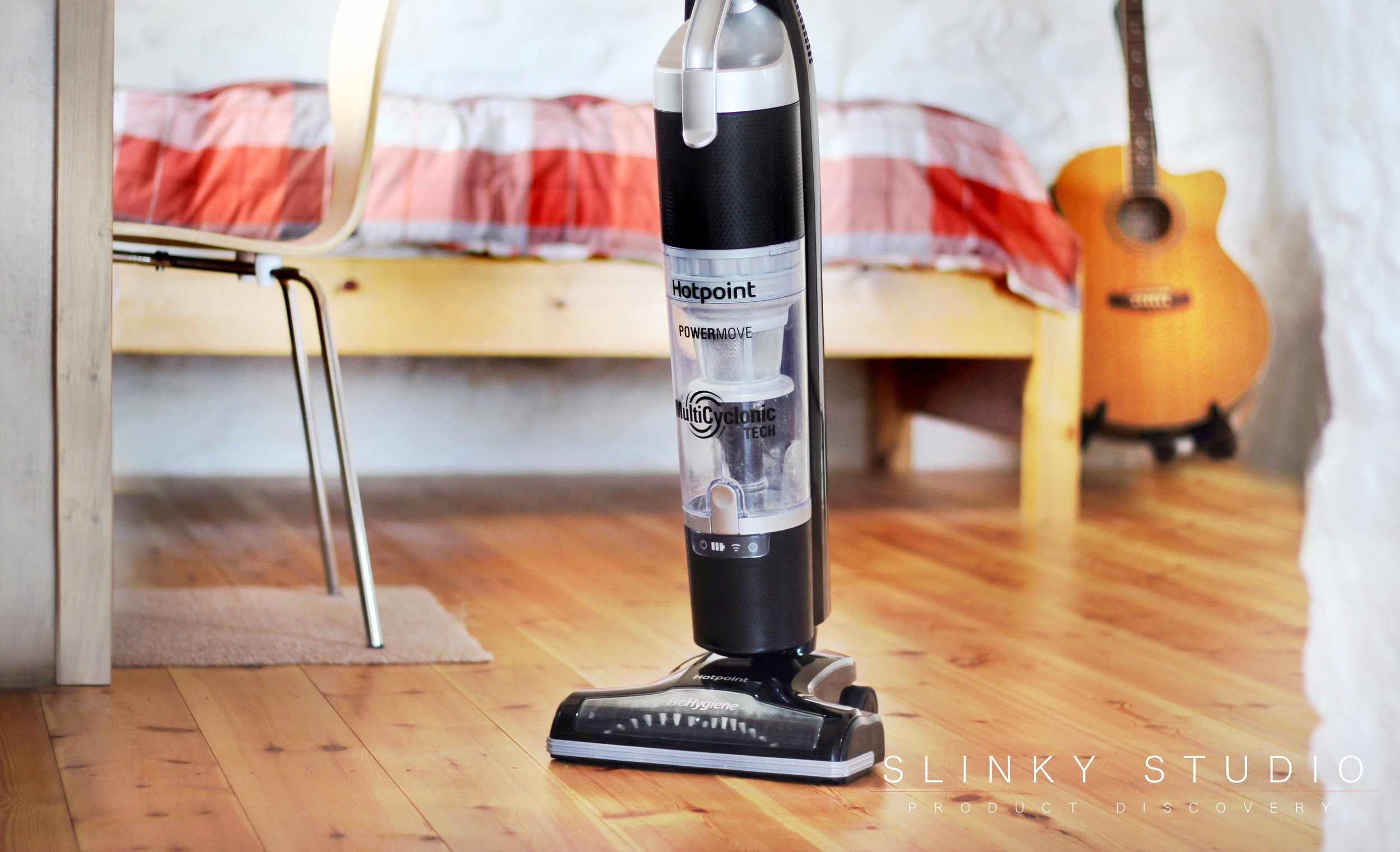Hotpoint are entering what is now a mature cordless cleaner marketplace with their new slimline upright Ultimate Collection Cordless Cleaner Full Body.jpg