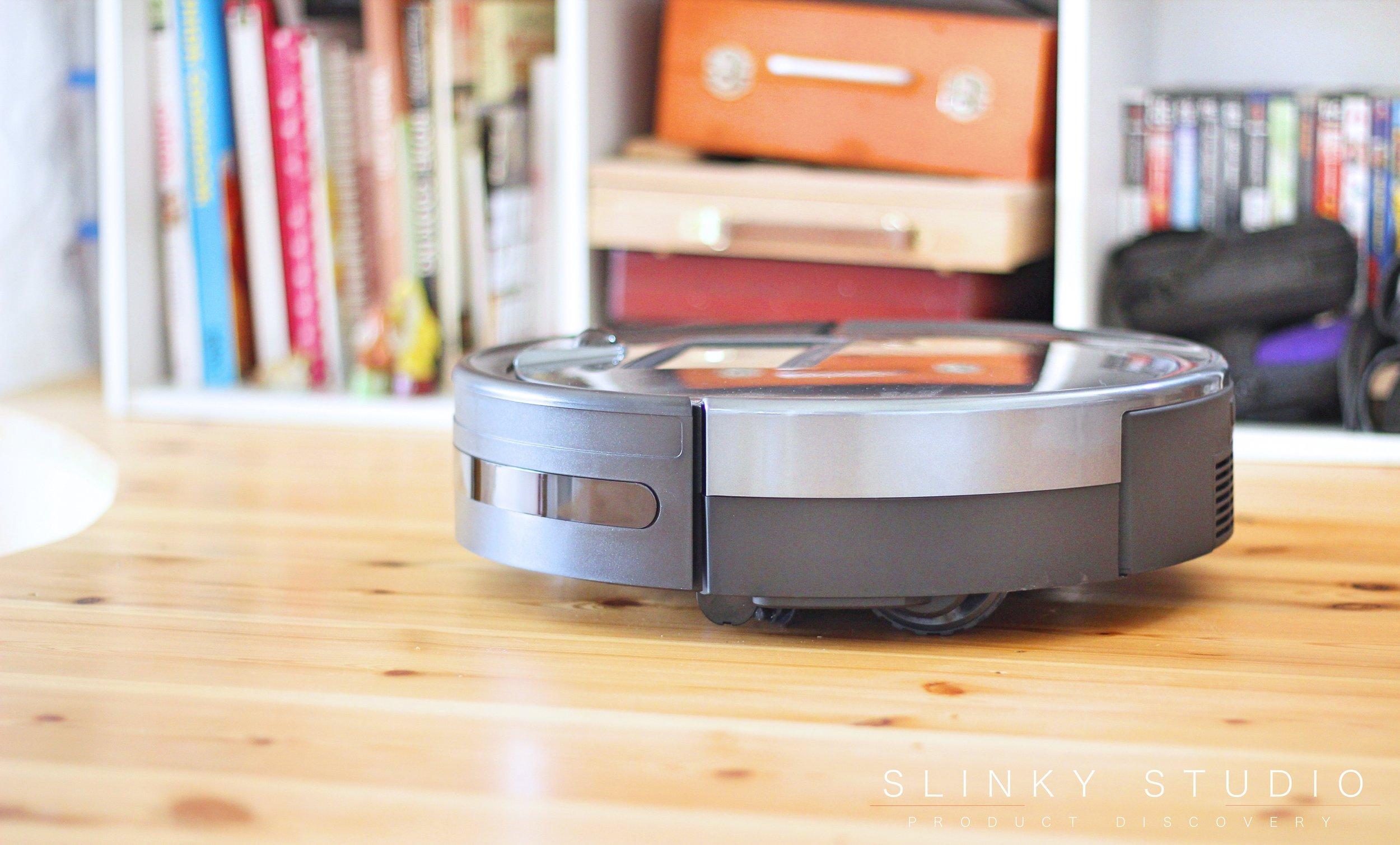 bObsweep PetHair Plus Robot Vacuum Cleaner Side View Wooden Floor.jpg