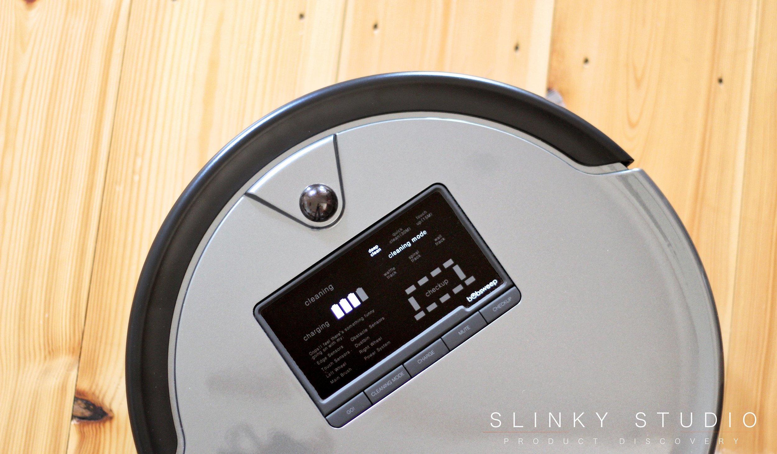 bObsweep PetHair Plus Robot Vacuum Cleaner Above View Controls + Screen.jpg