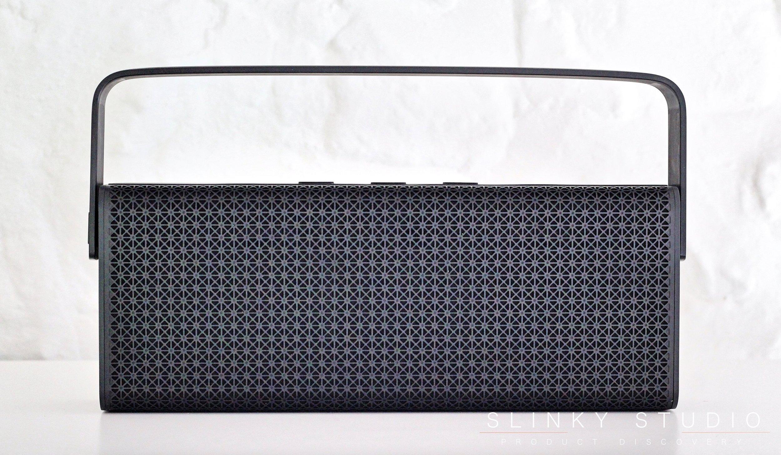 Edifier Rave MP700 Speaker Black on White Bookshelf.jpg
