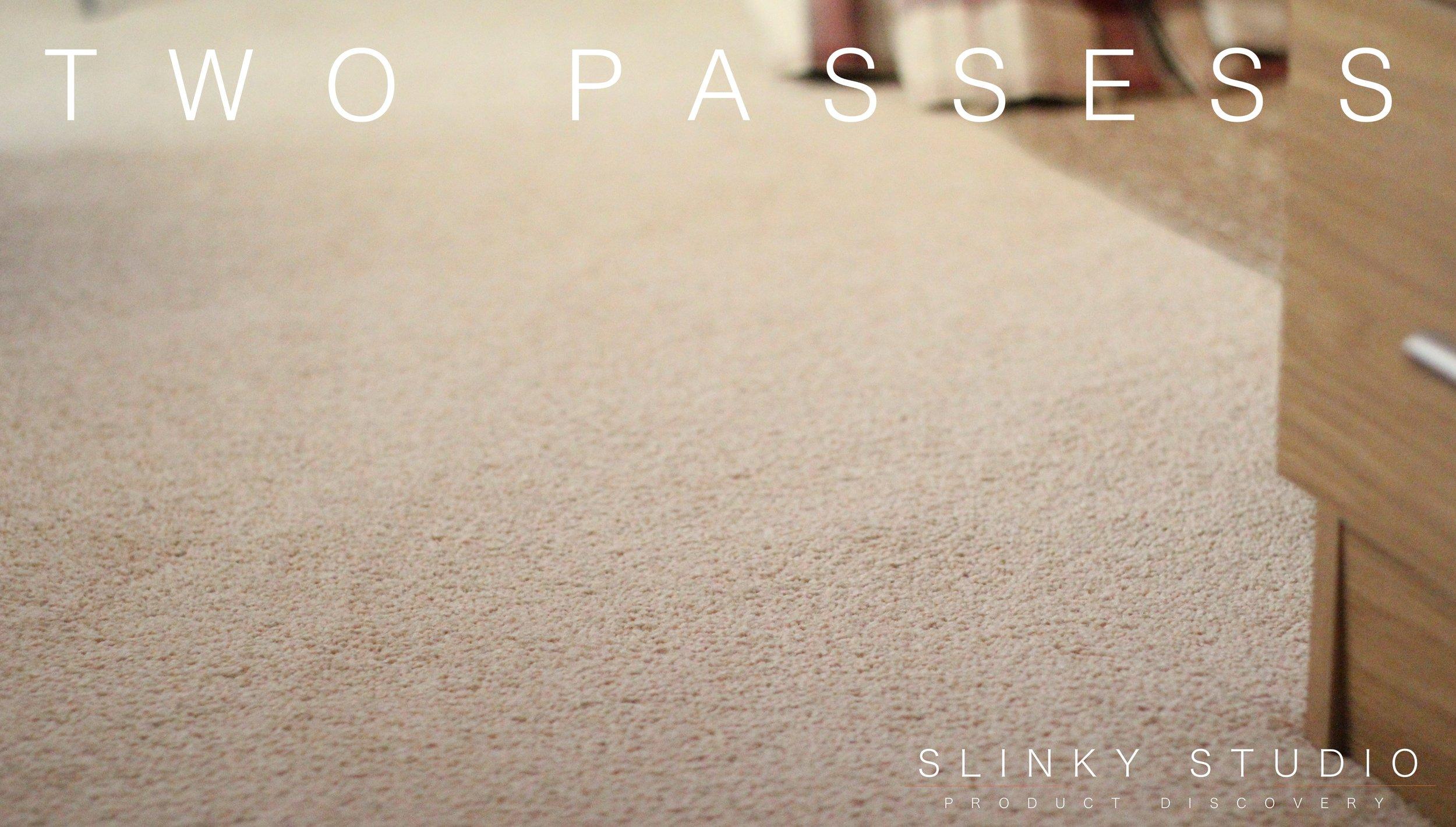 Beko Cordless Handheld & Upright Deluxe VRT6221P Cleaner Carpet Flour Test Two Passes.jpg