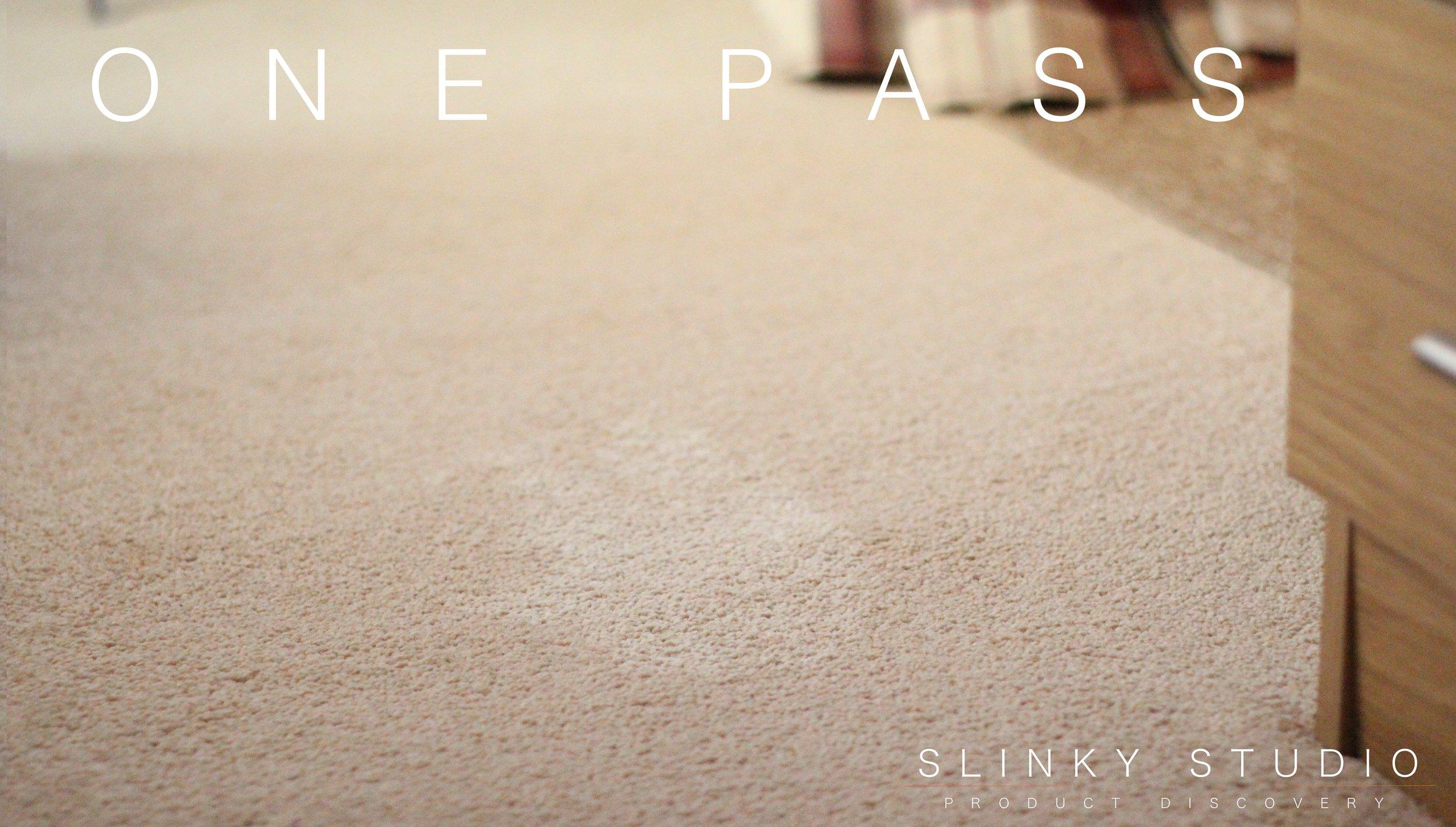 Beko Cordless Handheld & Upright Deluxe VRT6221P Cleaner Carpet Flour Test One Pass.jpg