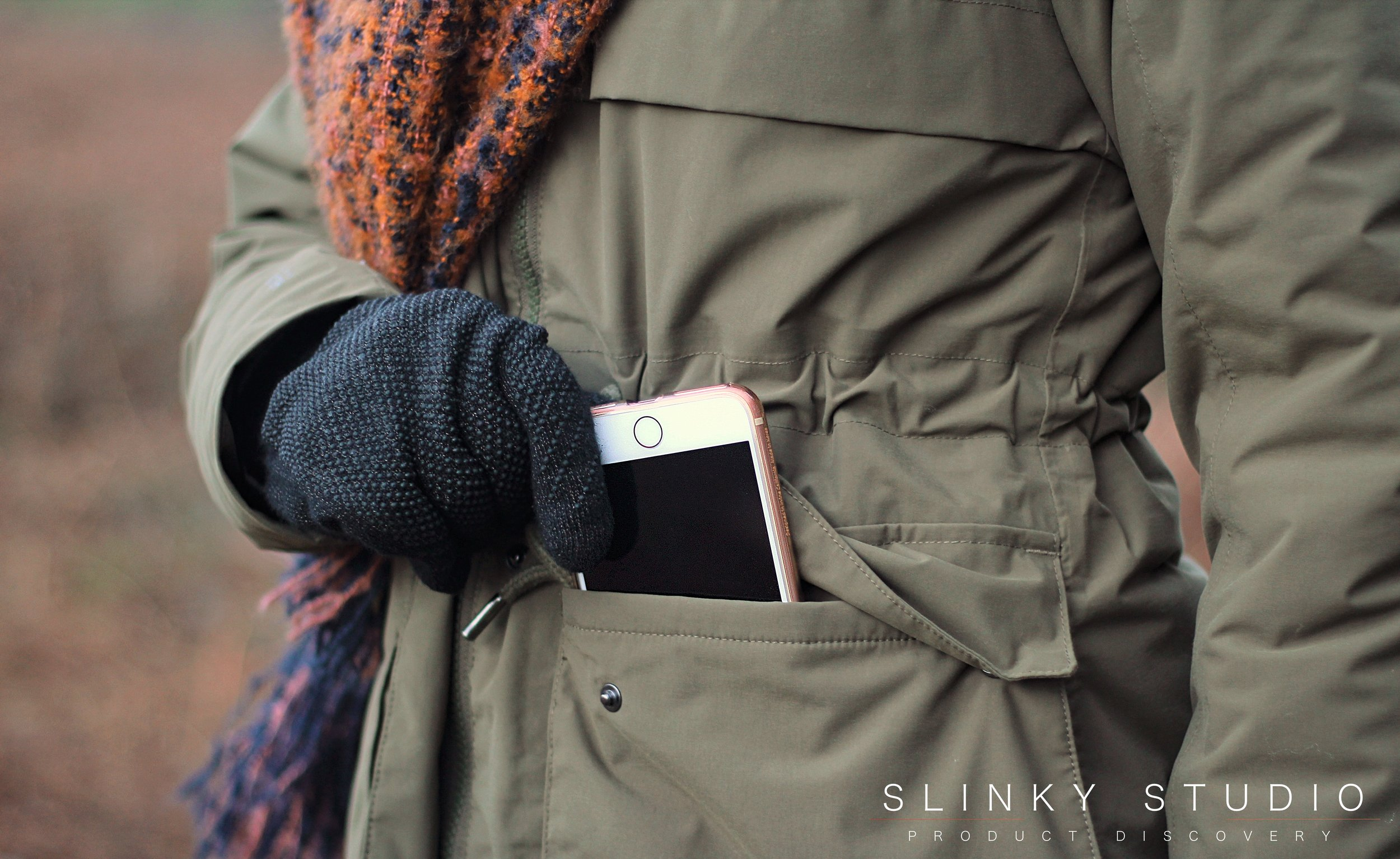Helly Hansen Boyne Parka Ivy Green iPhone Pocket